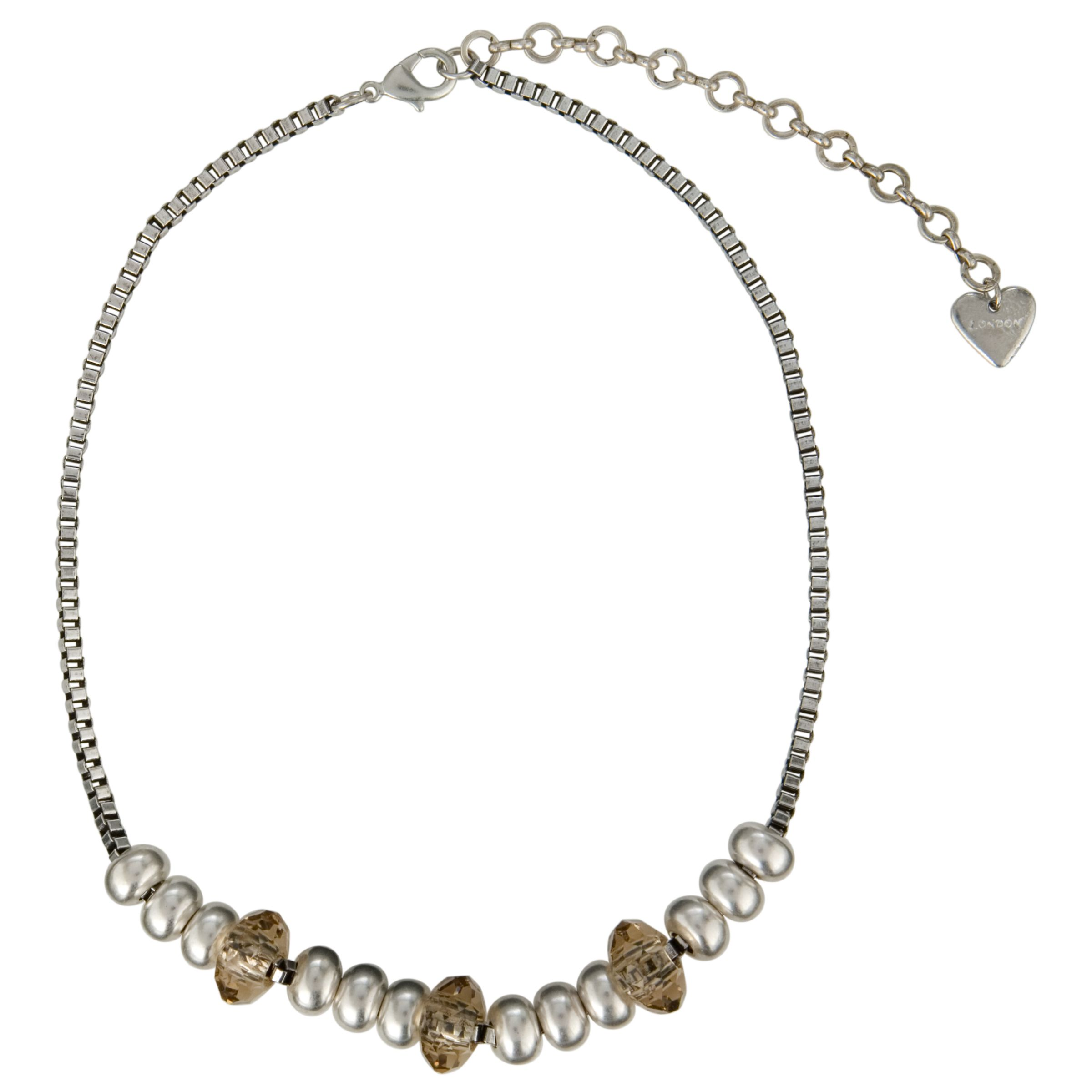 Adele Marie Bronze and Silver Bead Chain Necklace
