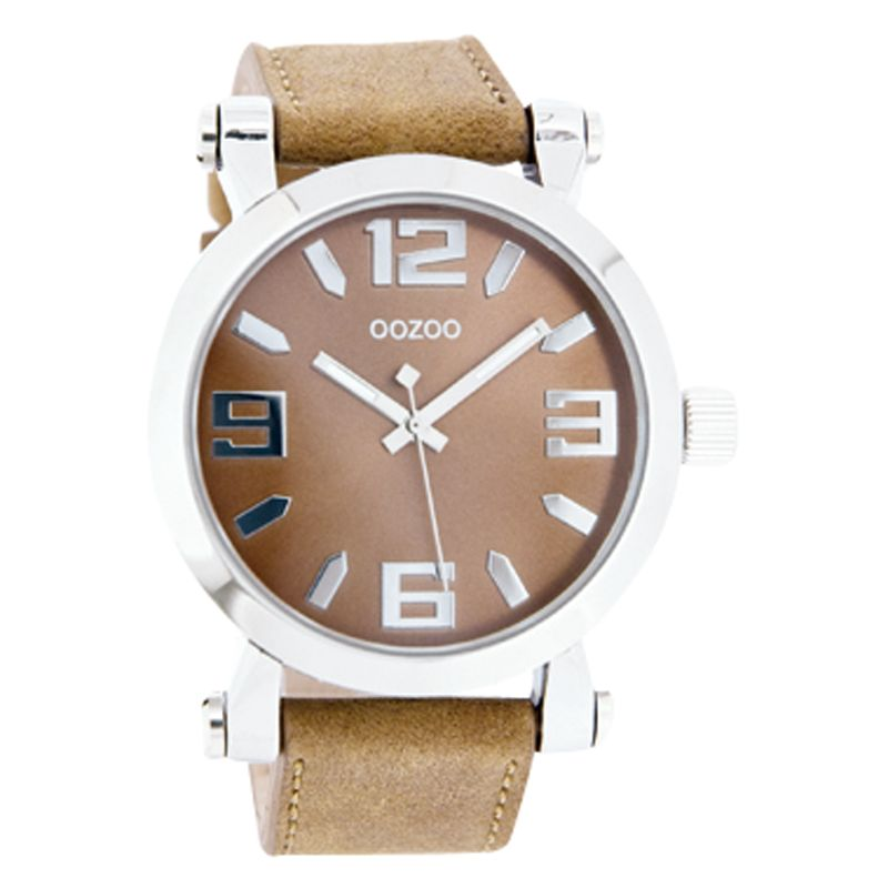 Oozoo C4073 Unisex Brown Round Dial Leather Strap Watch