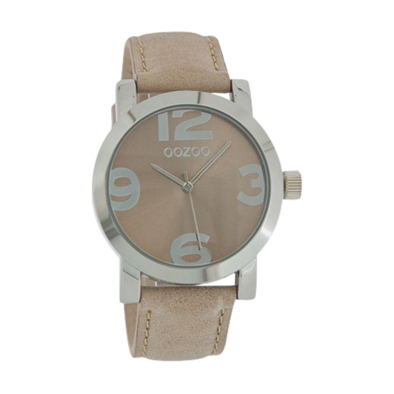 Oozoo C4186 Unisex Sand Dial Leather Strap Watch