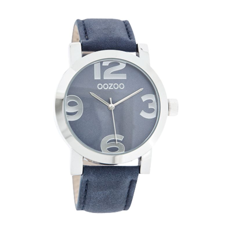 Oozoo C4187 Unisex Purple Dial Leather Strap Watch