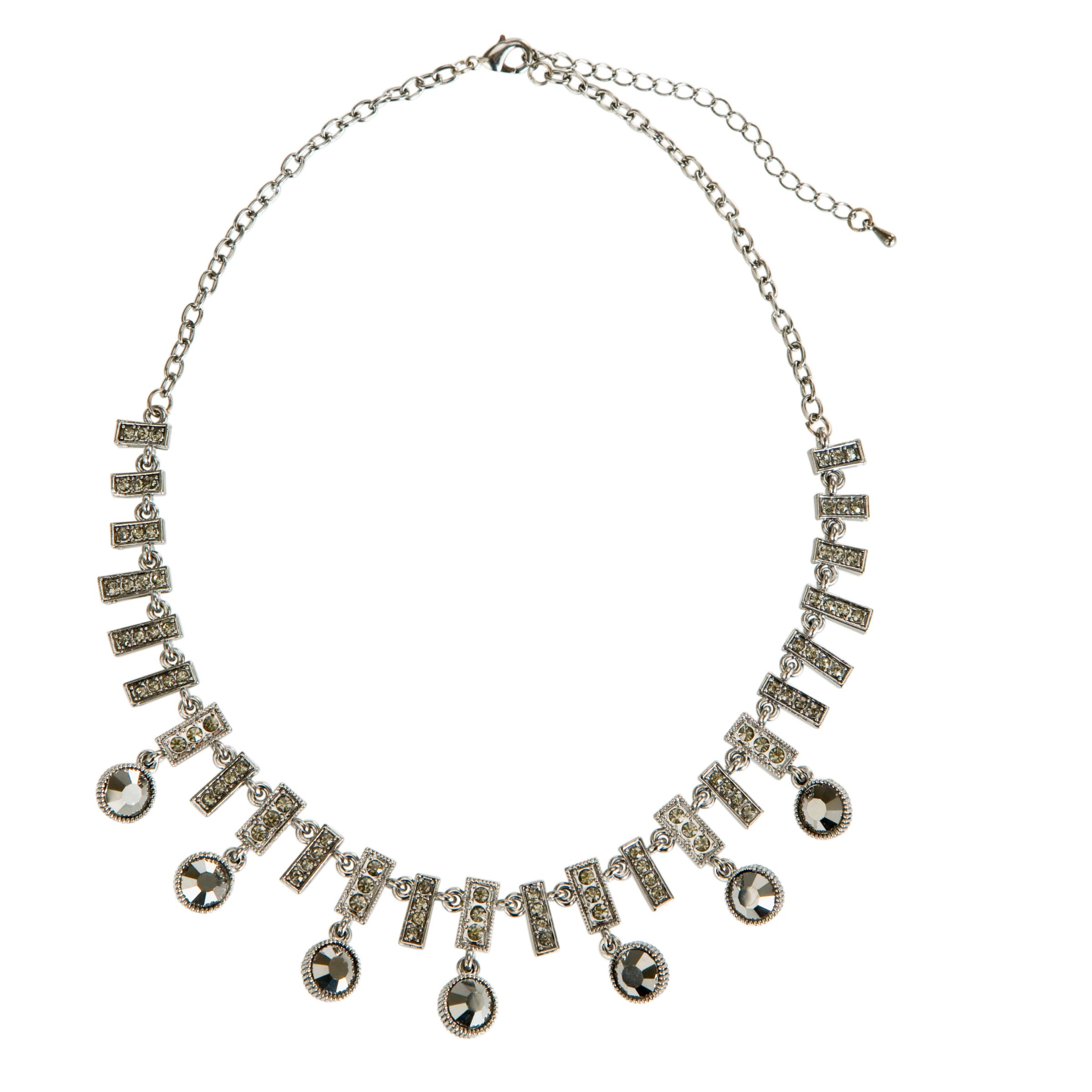 John Lewis Women Diamante Drop Necklace