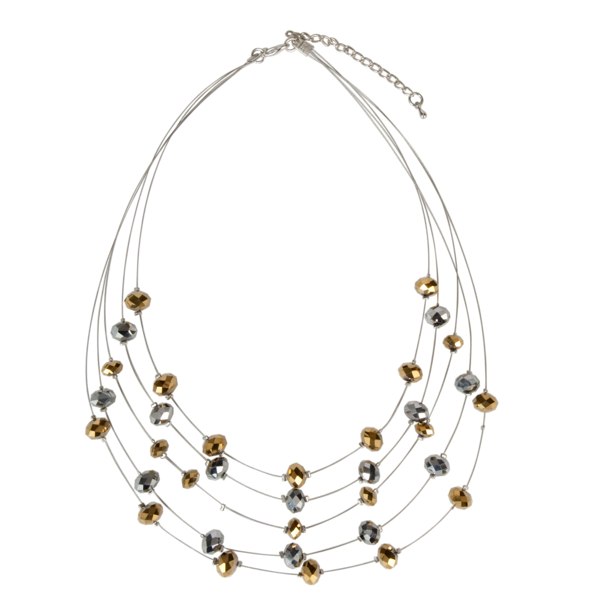John Lewis Women Illusion Necklace, Gold