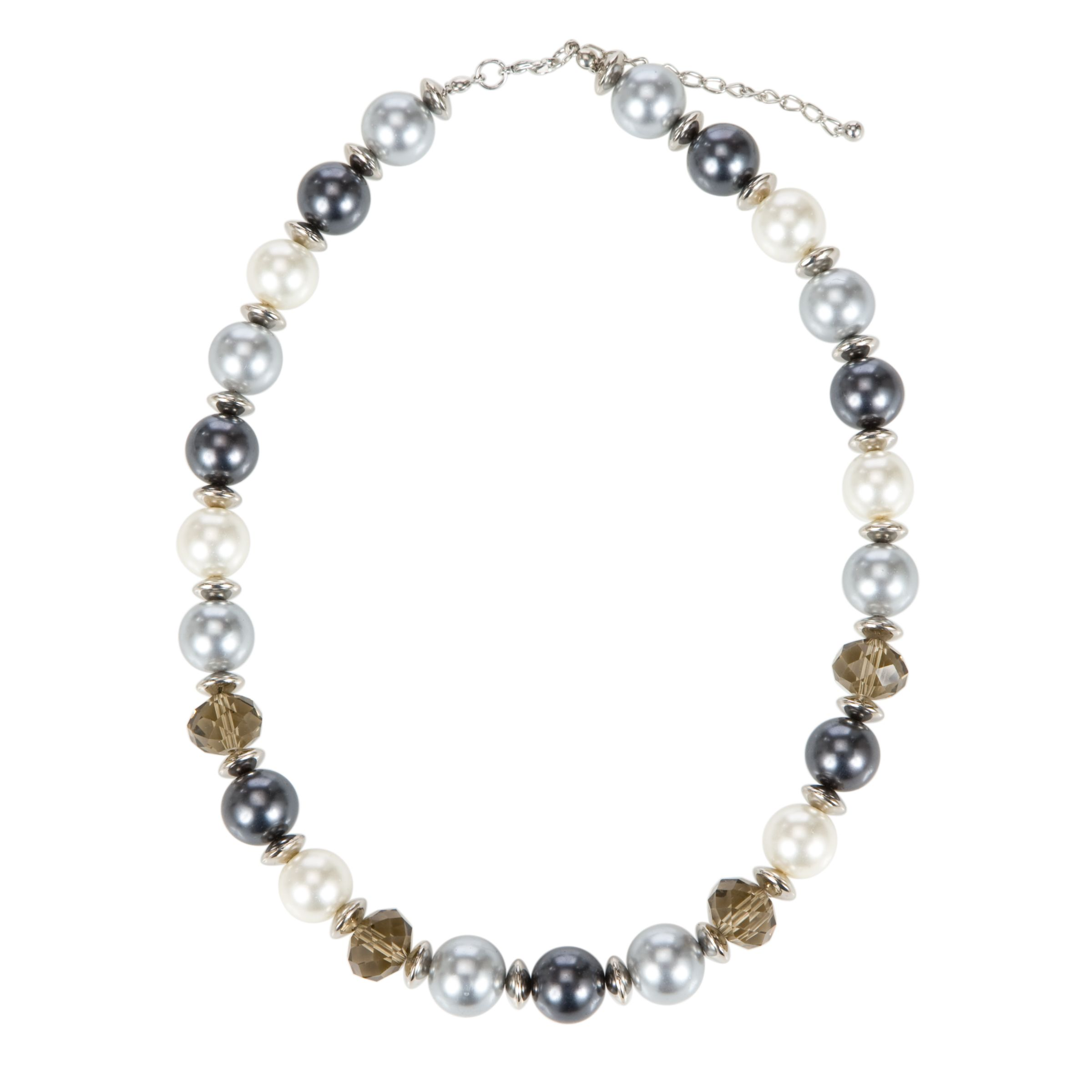 John Lewis Women Galaxy Blue and Cream Glass Pearl Necklace