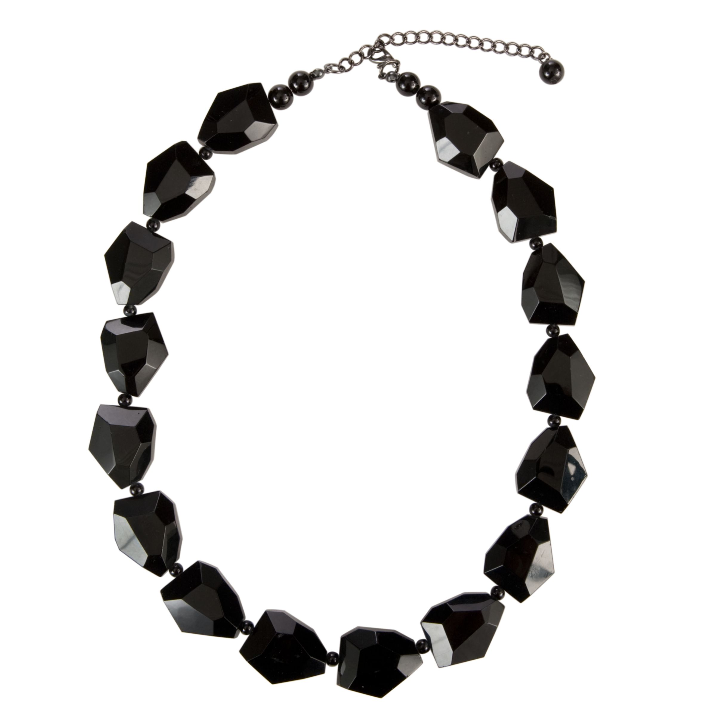 John Lewis Women Jet Beaded Necklace, Black