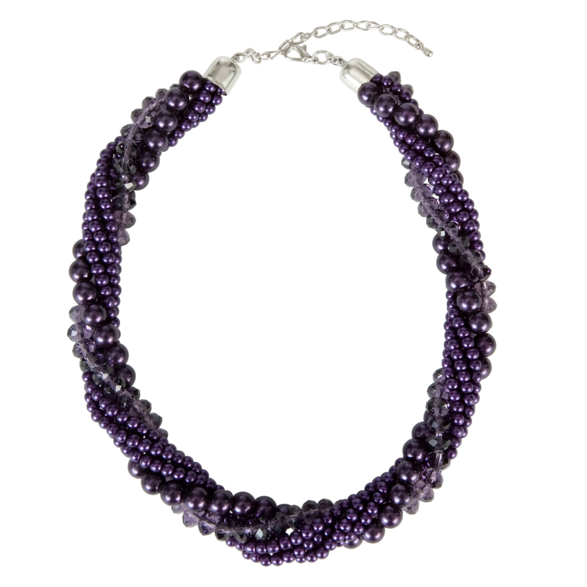 John Lewis Women Pearl Twist Necklace, Purple