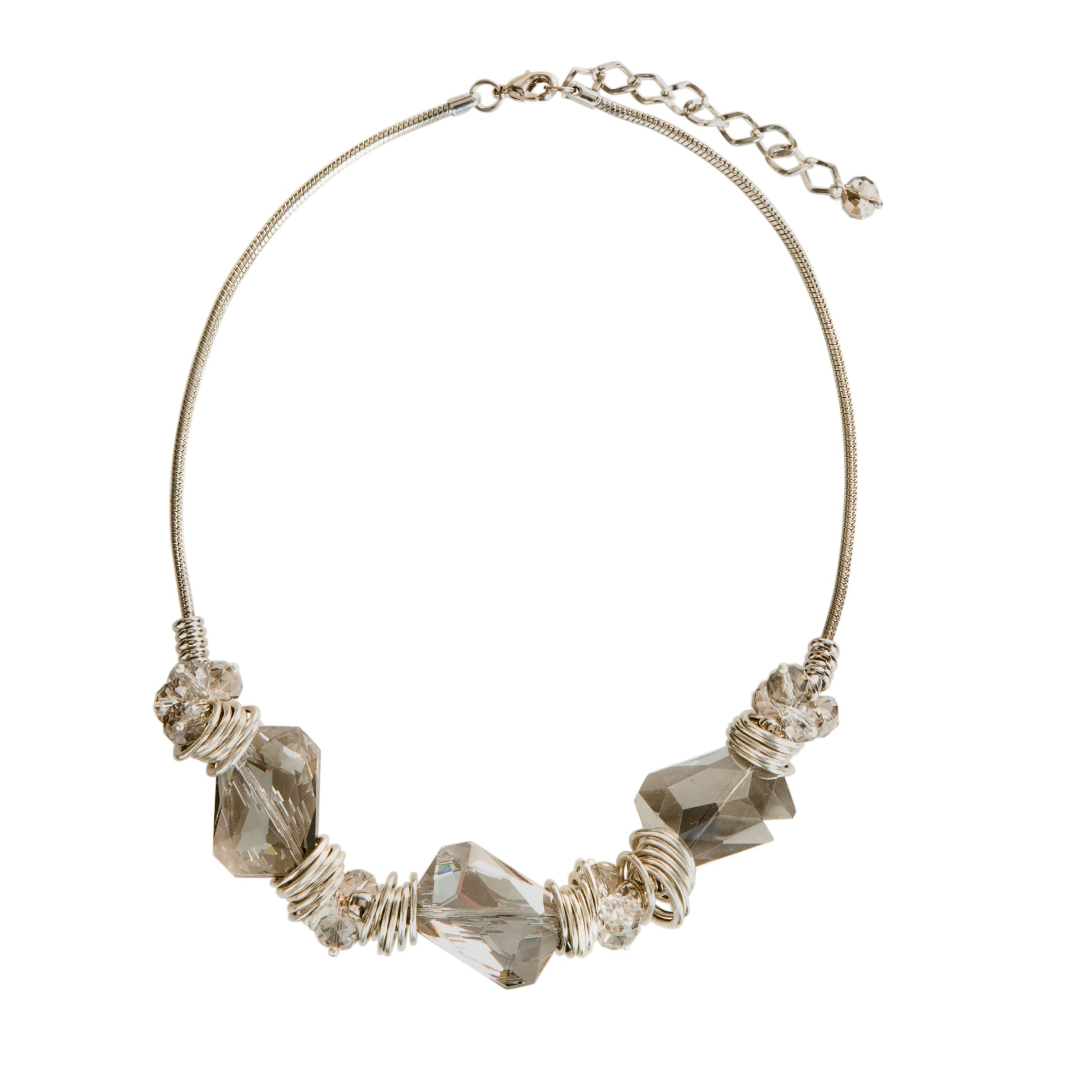 John Lewis Women Stone and Metal Short Necklace