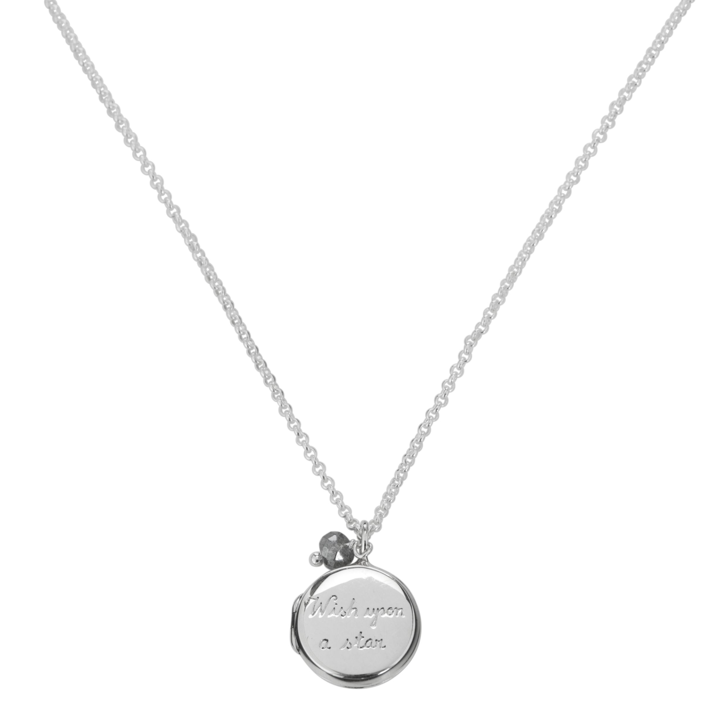 Martick Wish Upon A Star Secret Locket Necklace, Silver