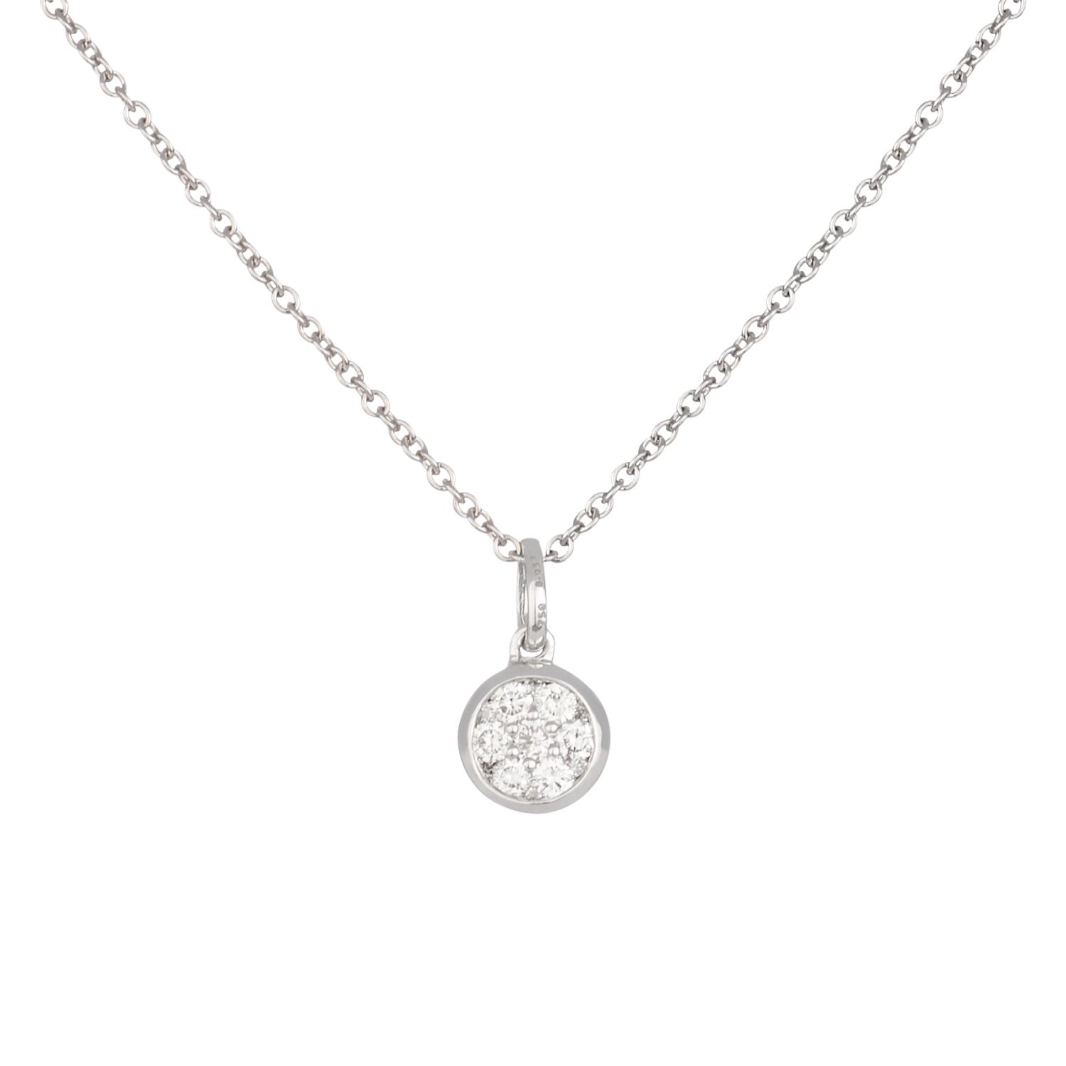 Dinny Hall 18k White Gold Diamond Cluster Pendant Necklace