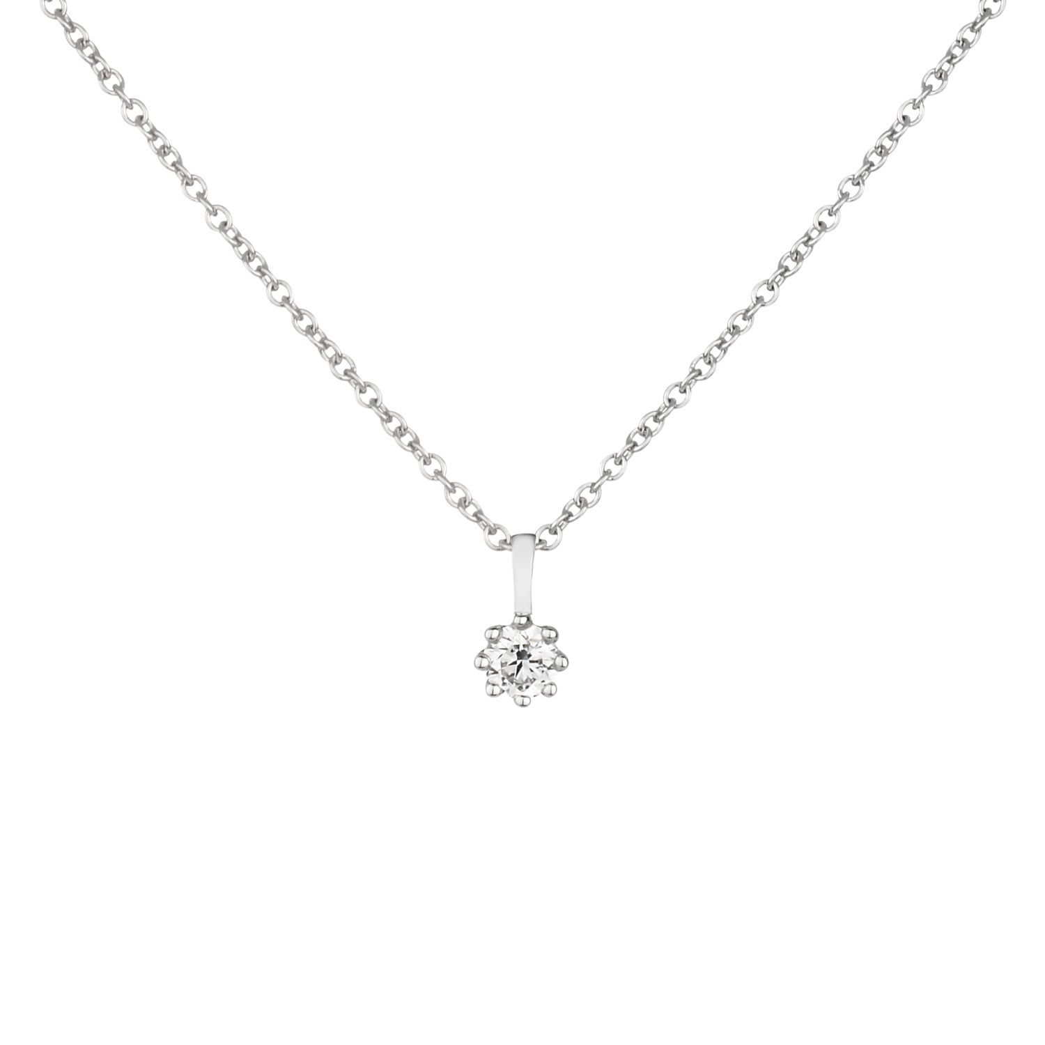 Dinny Hall 18k White Gold Diamond Pendant Necklace