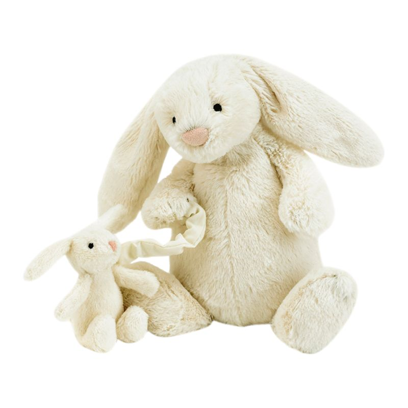 Jellycat Bashful Bunny Musical Pull, Cream