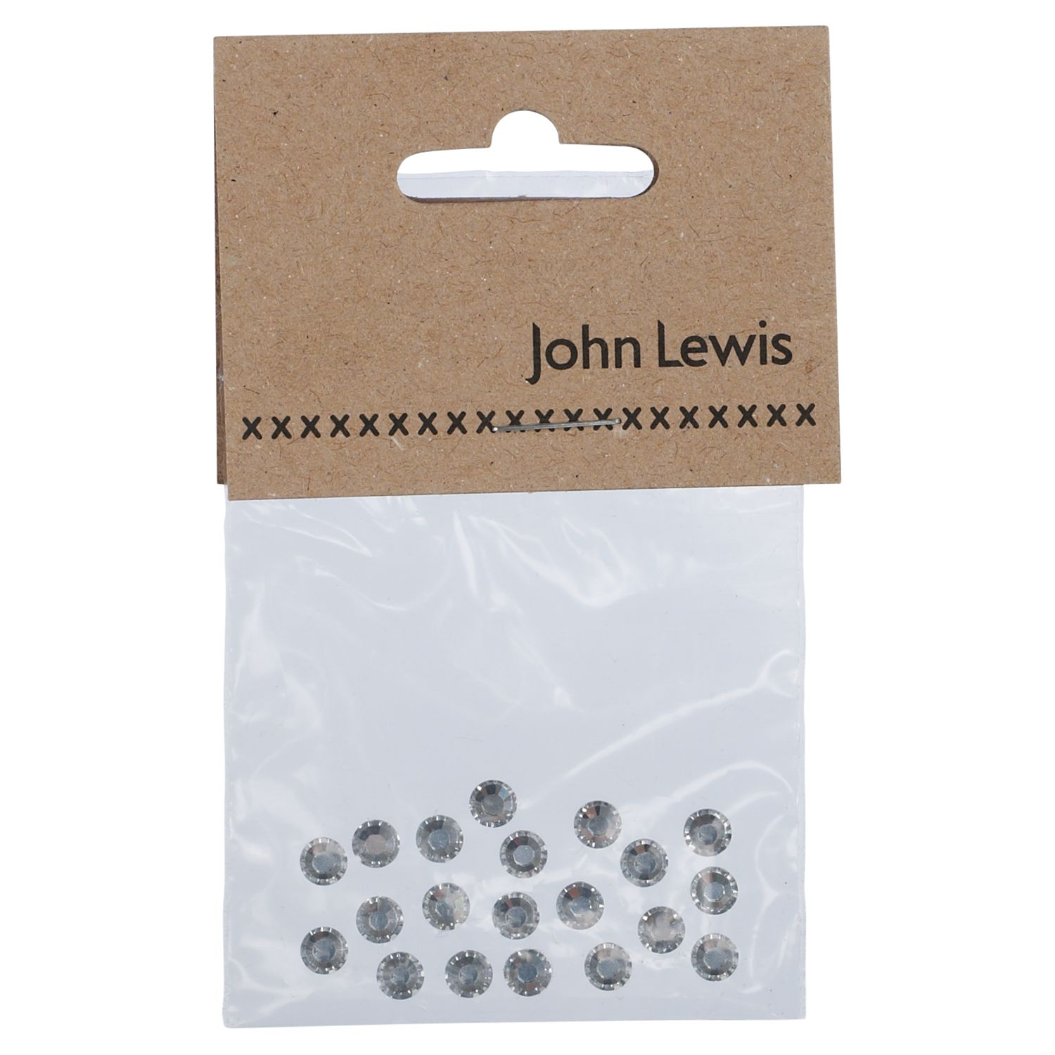 John Lewis Swarovski 5mm Hotfix Crystals, Pack of 20, Clear