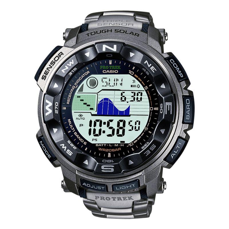 Casio Pro Trek PRW-2500T-7ER Men's Wave Ceptor Titanium Bracelet Watch