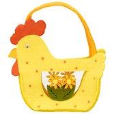 John Lewis Felt Hen Basket, Yellow