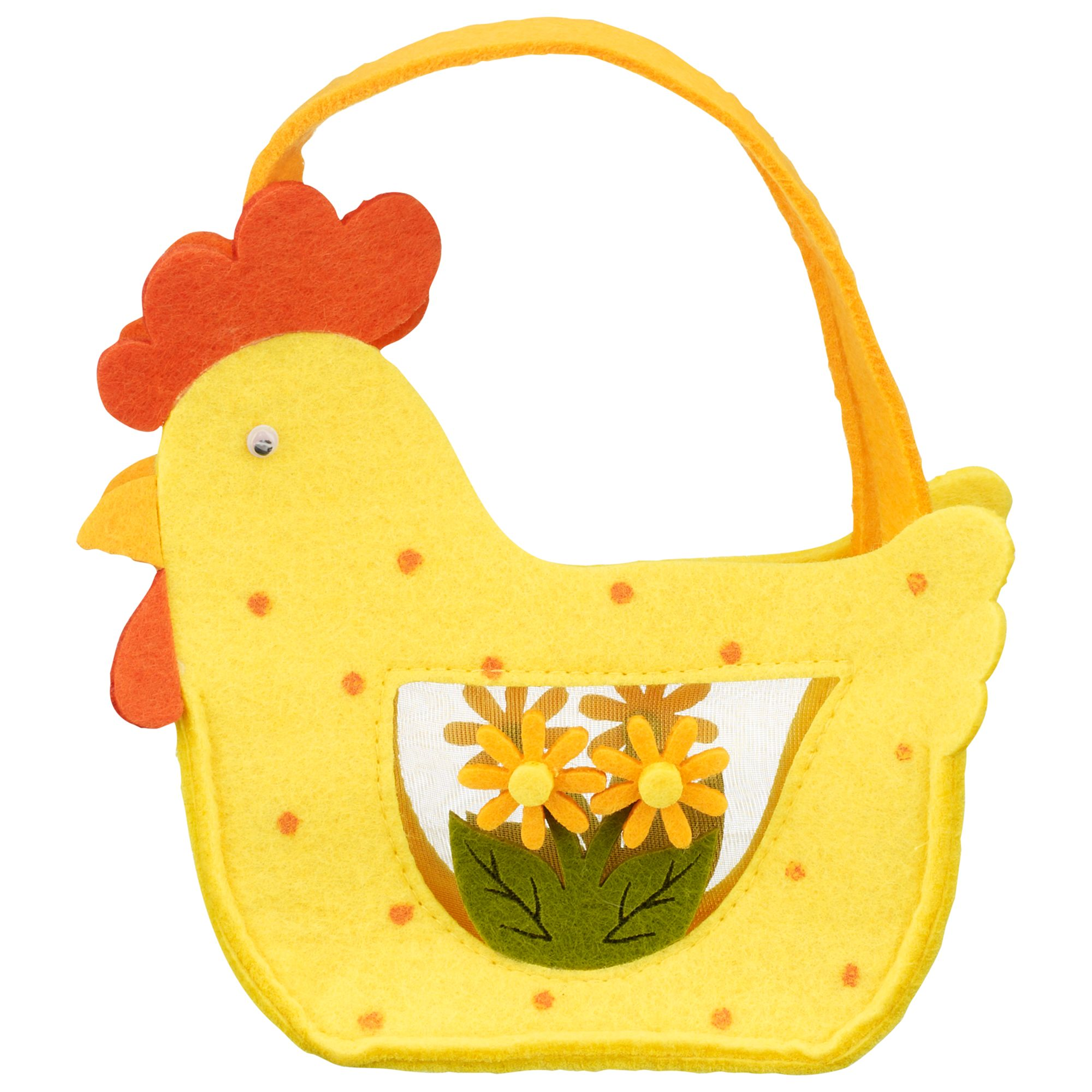 John Lewis Felt Hen Basket, Yellow