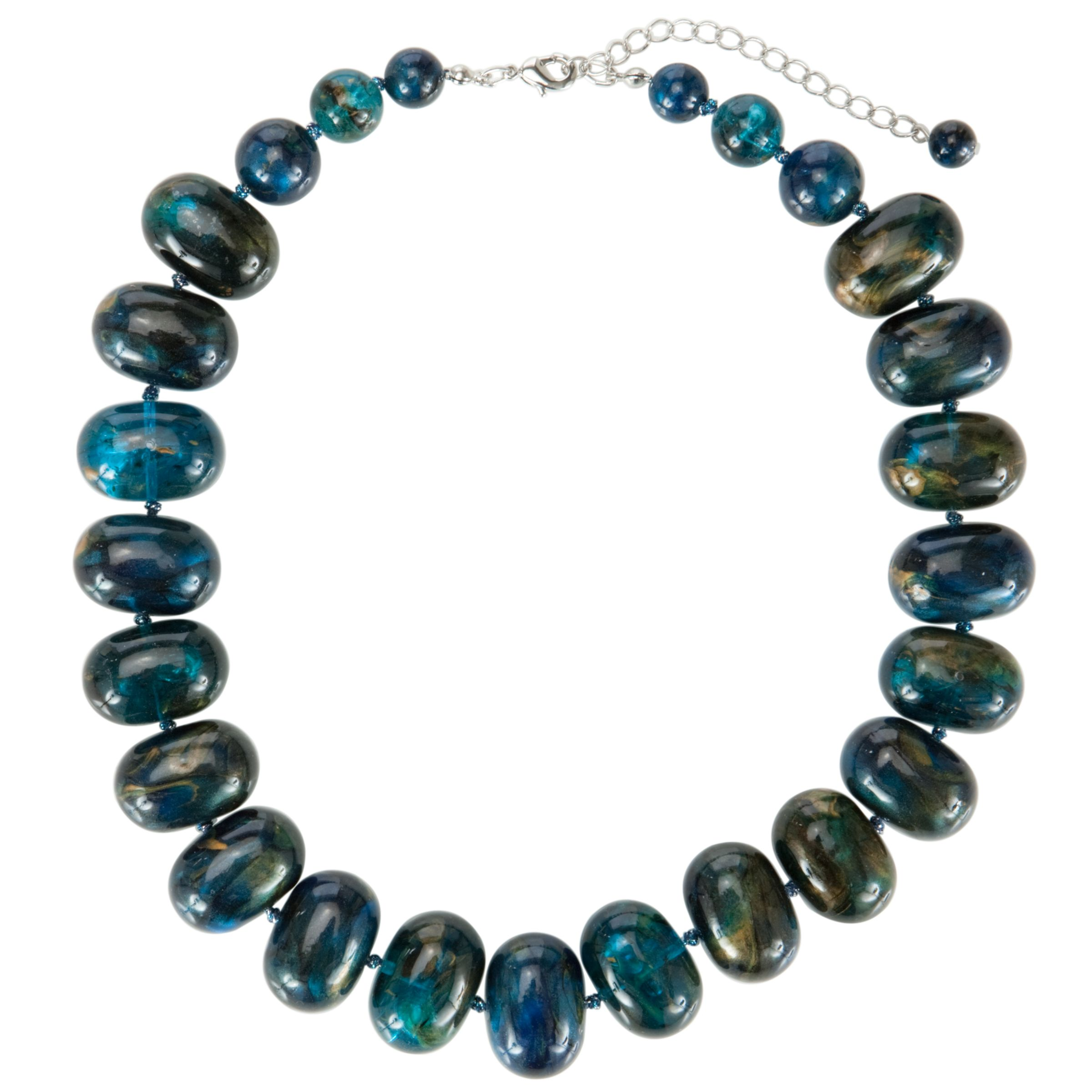 John Lewis Women Acrylic Bead Necklace, Blue