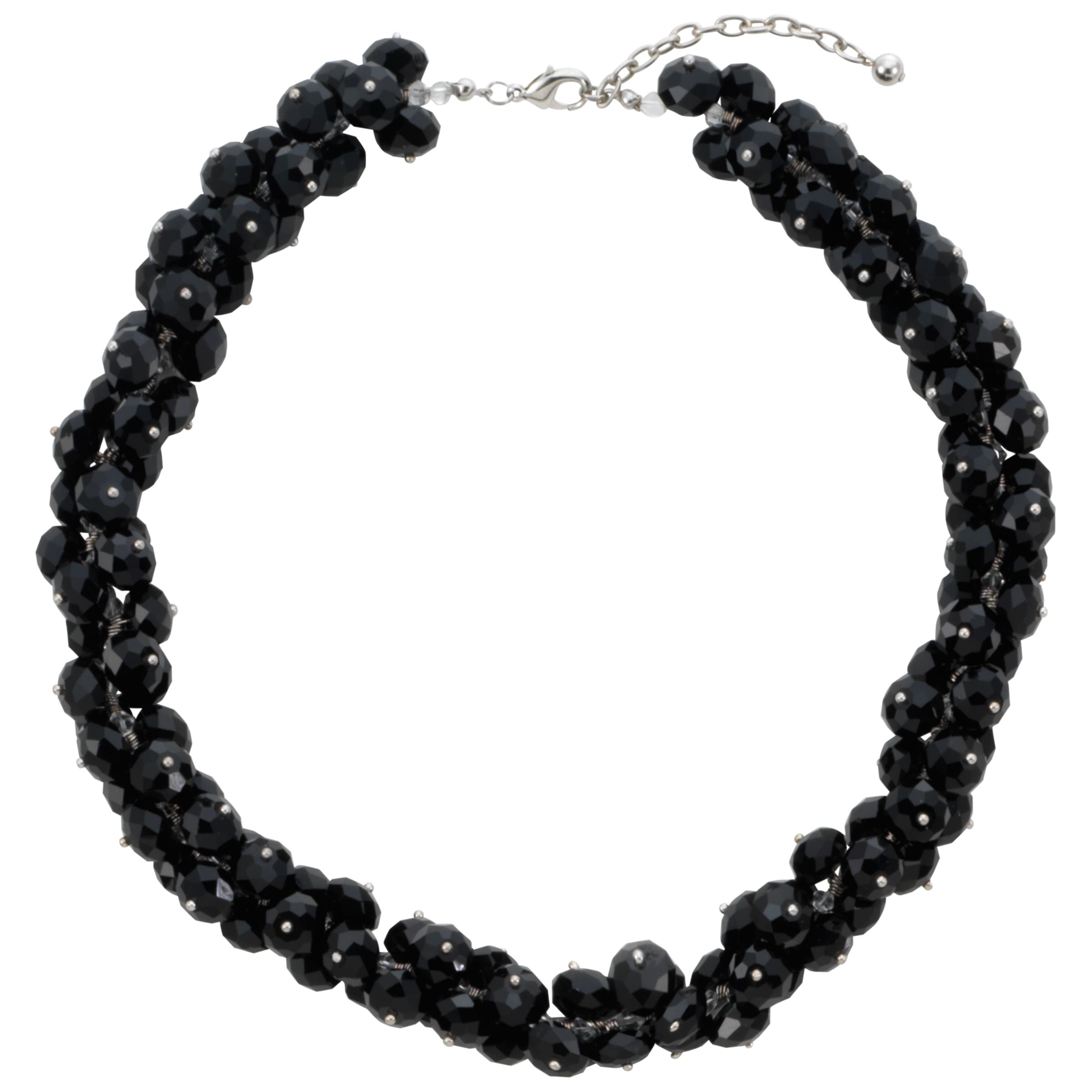 COLLECTION, John Lewis Women Hematite Bead Sparkle Necklace, Grey