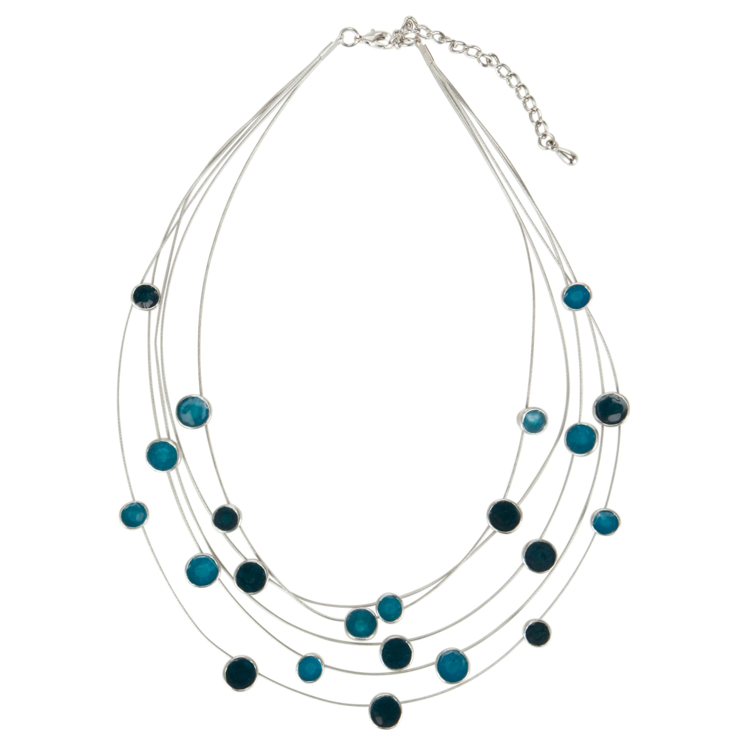 John Lewis Women 5-Row Illusion Necklace, Blue