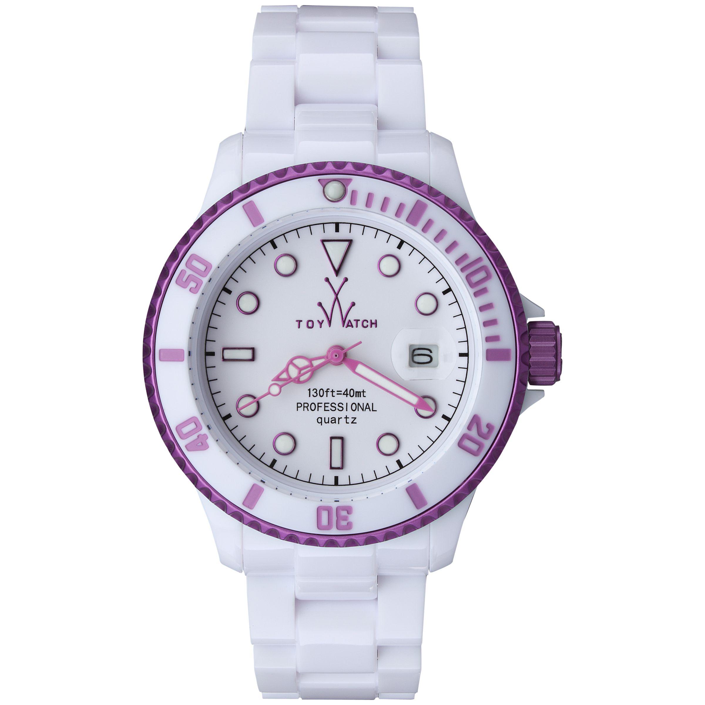 Toy Watch FLA01WHPR Unisex Purple Fluo Aluminium Bracelet Watch, Purple