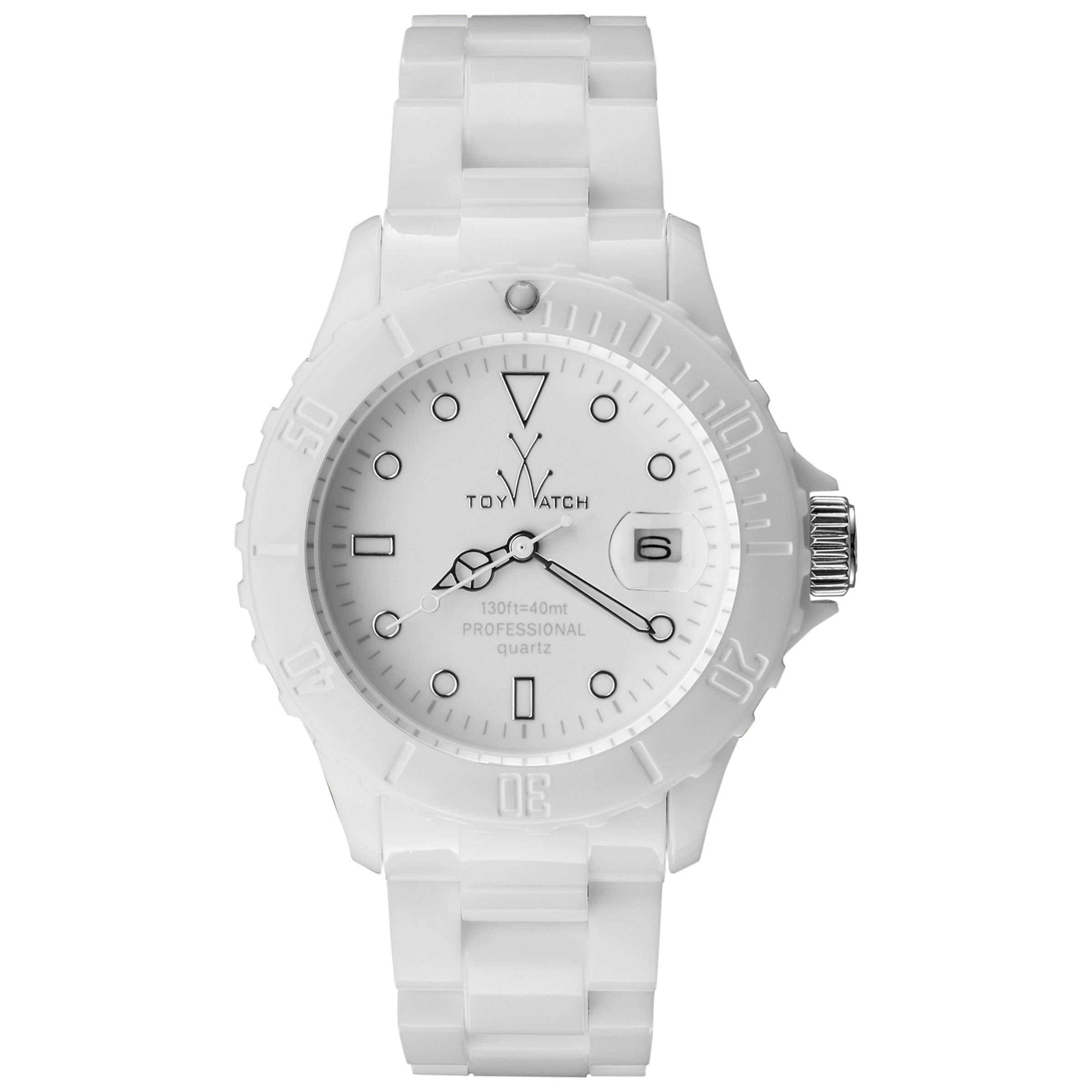 Toy Watch MO01WH Unisex Monochrome White Bracelet Watch, White