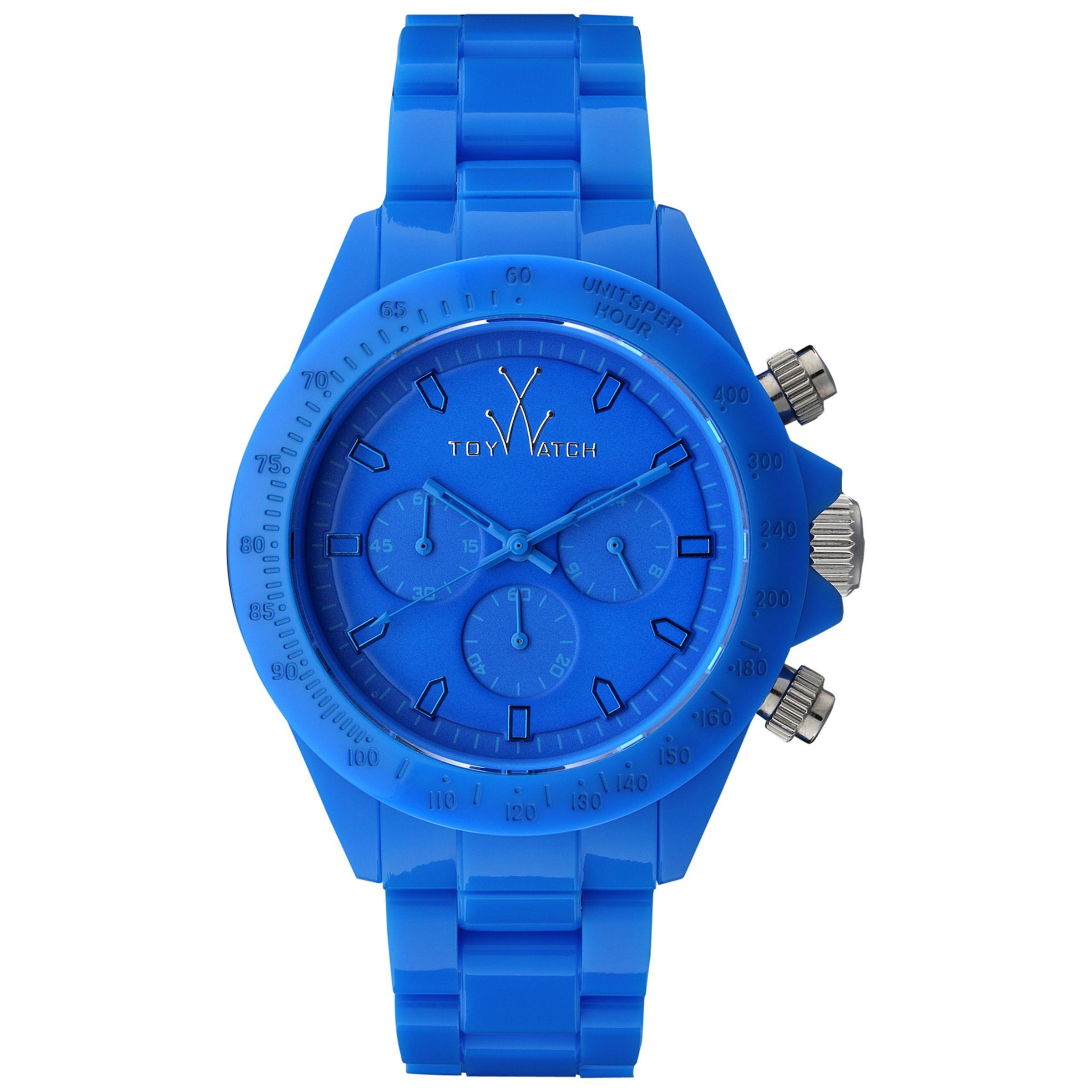 Toy Watch MO09LB Unisex Blue Monochrome Chronograph Bracelet Watch, Blue