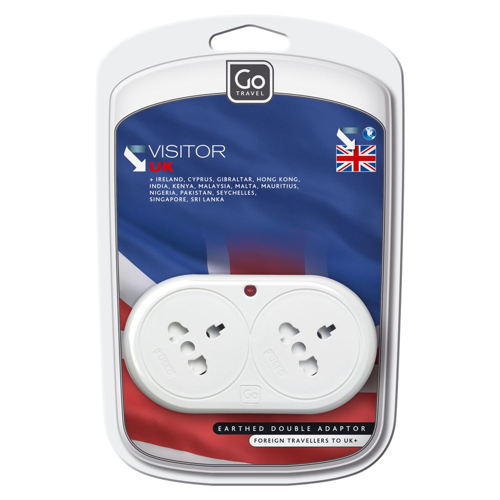 Design Go Double Adaptor For UK Visitors