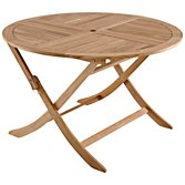 John Lewis Leckford Round 4 Seater Outdoor Dining Table, FSC Teak, width 120cm
