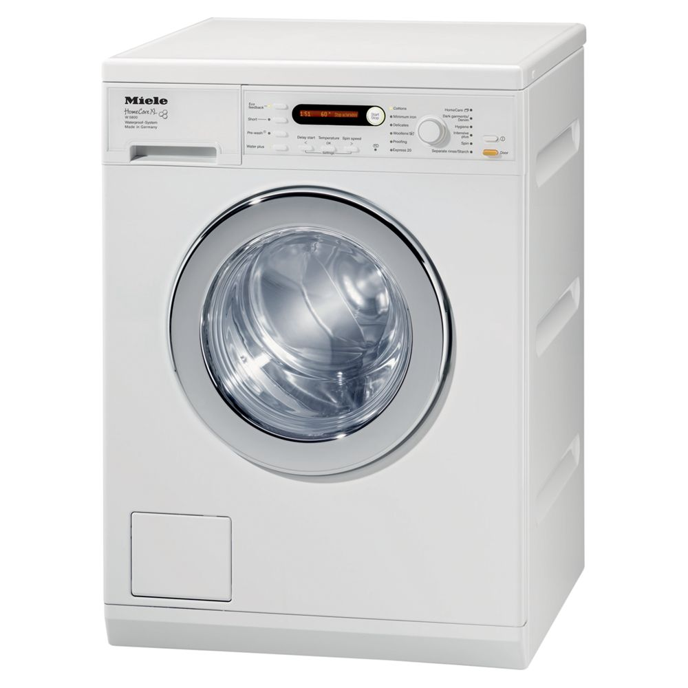 Miele W5846 Washing Machine, 7kg Load, A+++ Energy Rating, 1600rpm Spin, White