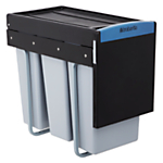 Brabantia Built-in Separator Recycle Bin, 3 x 10L