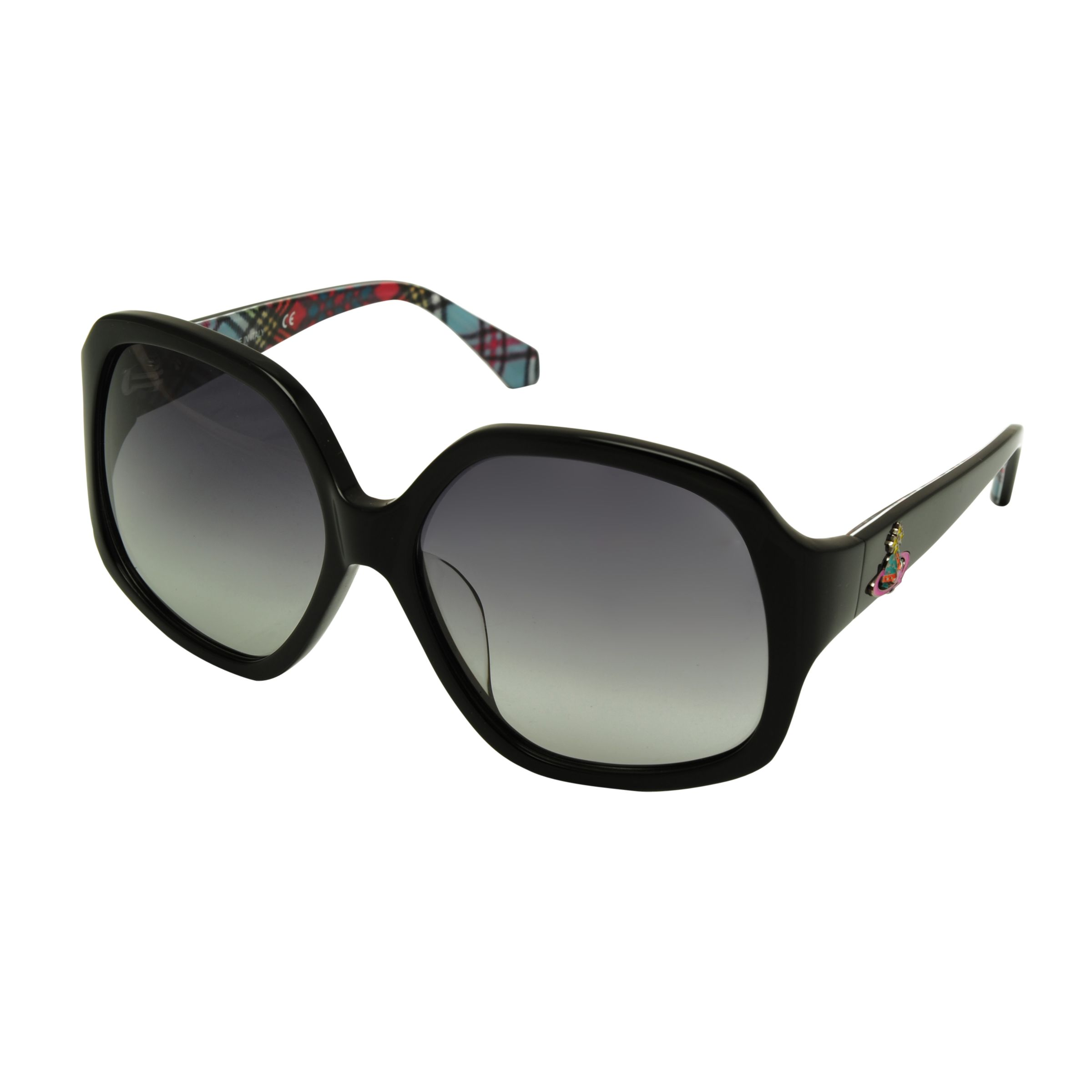 Vivienne Westwood Wide Print Sunglasses, Black