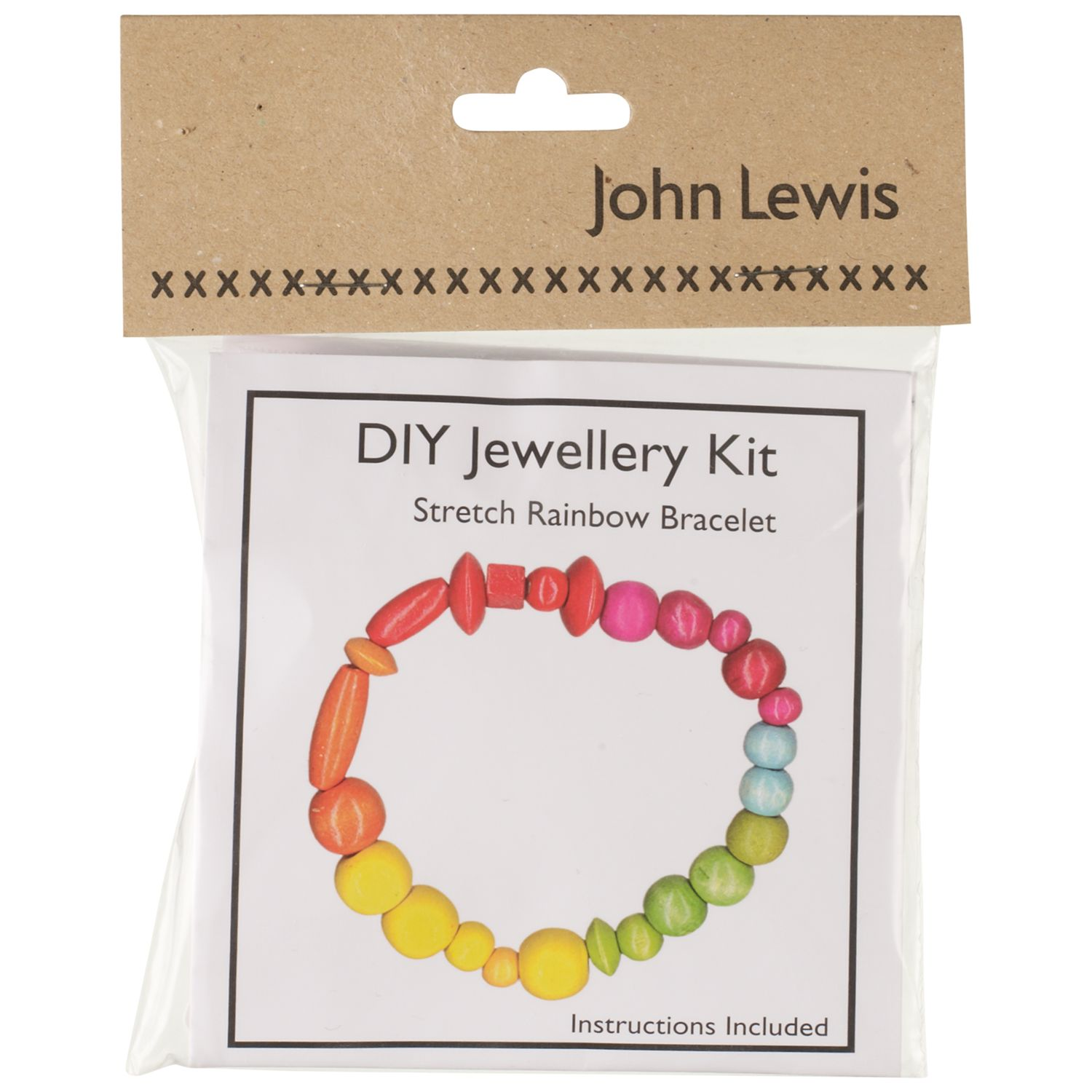John Lewis DIY Stretch Rainbow Bracelet Jewellery Kit