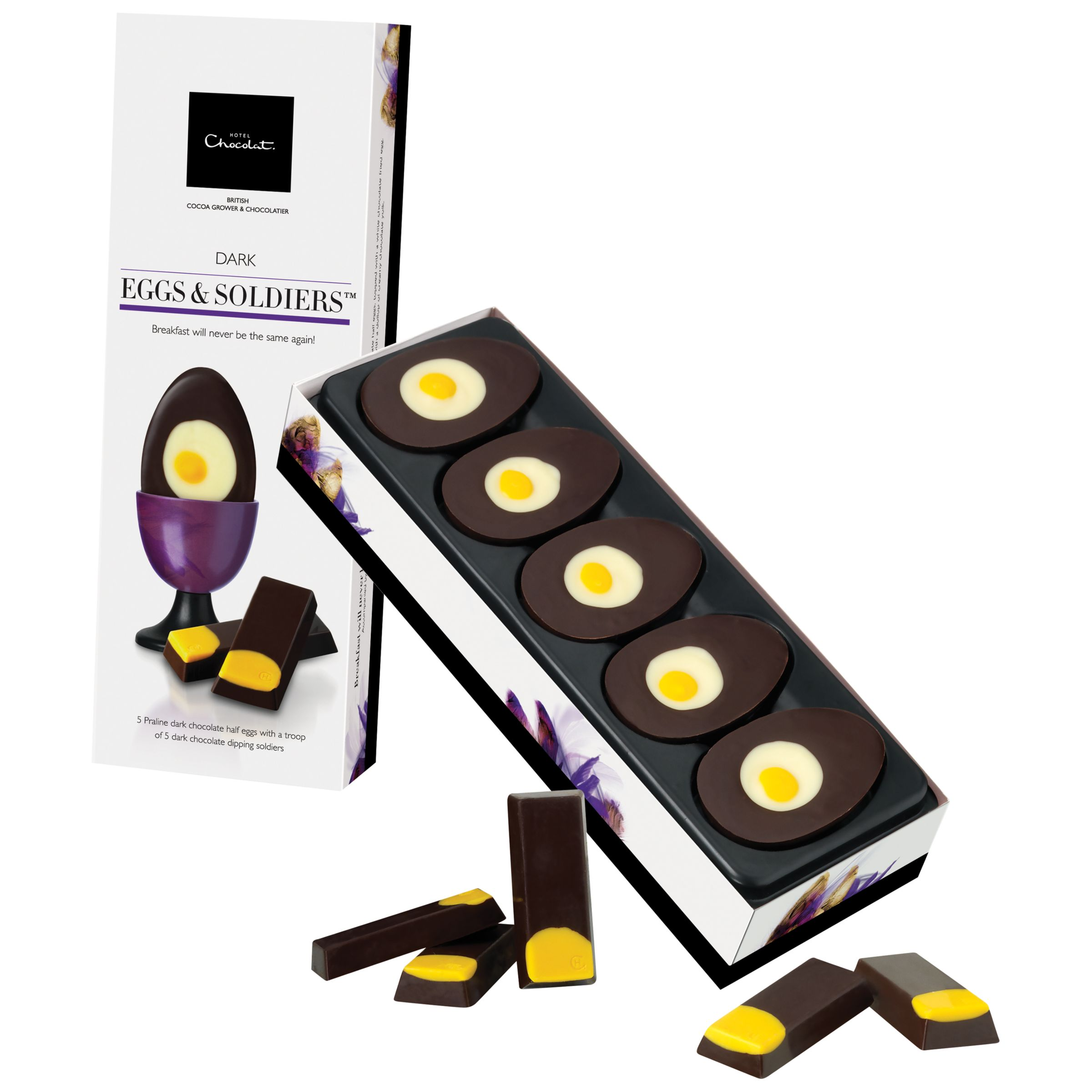 Hotel Chocolat Dark Chocolate Eggs & Soldiers, 90g