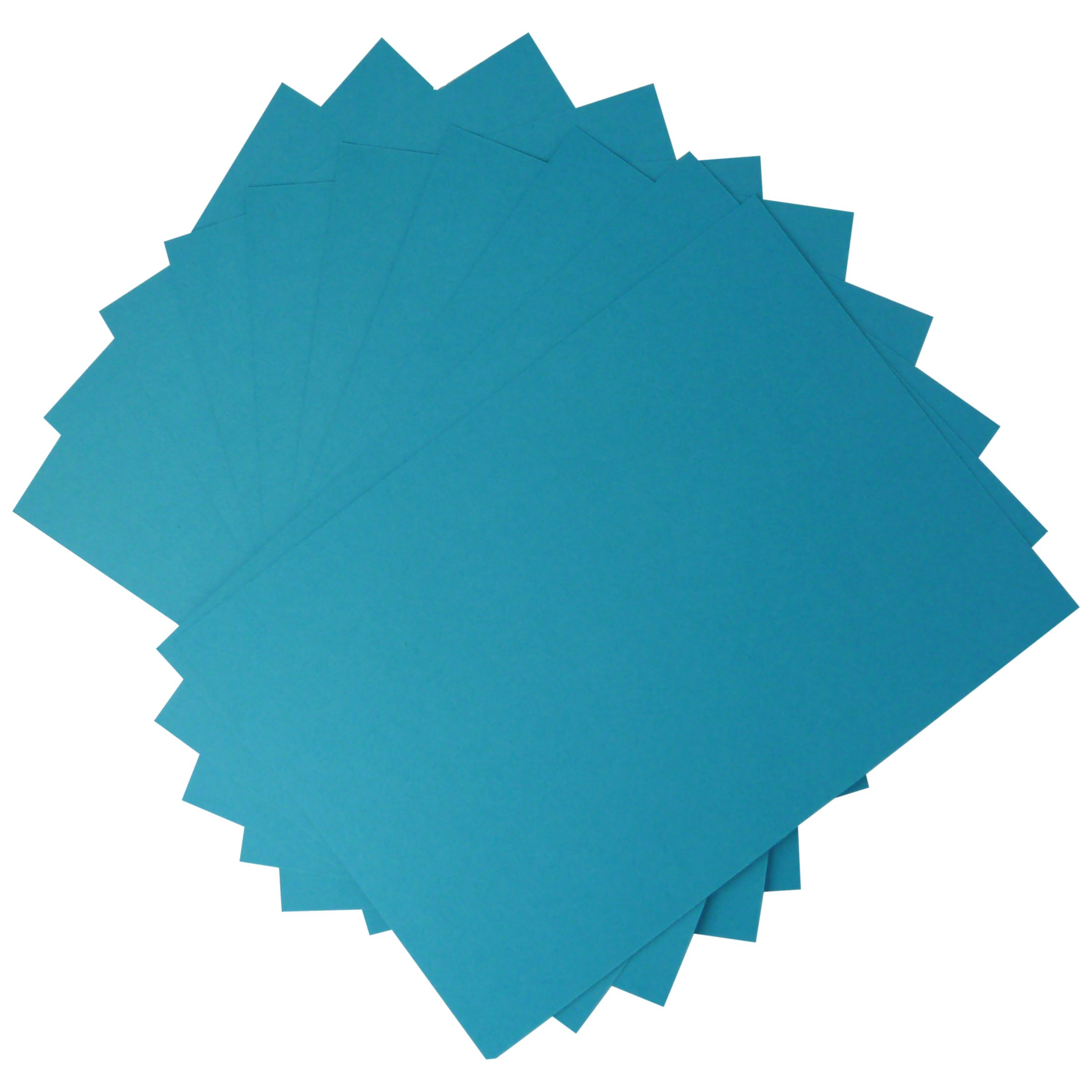 John Lewis Plain Card, A4, Pack of 10, Blue
