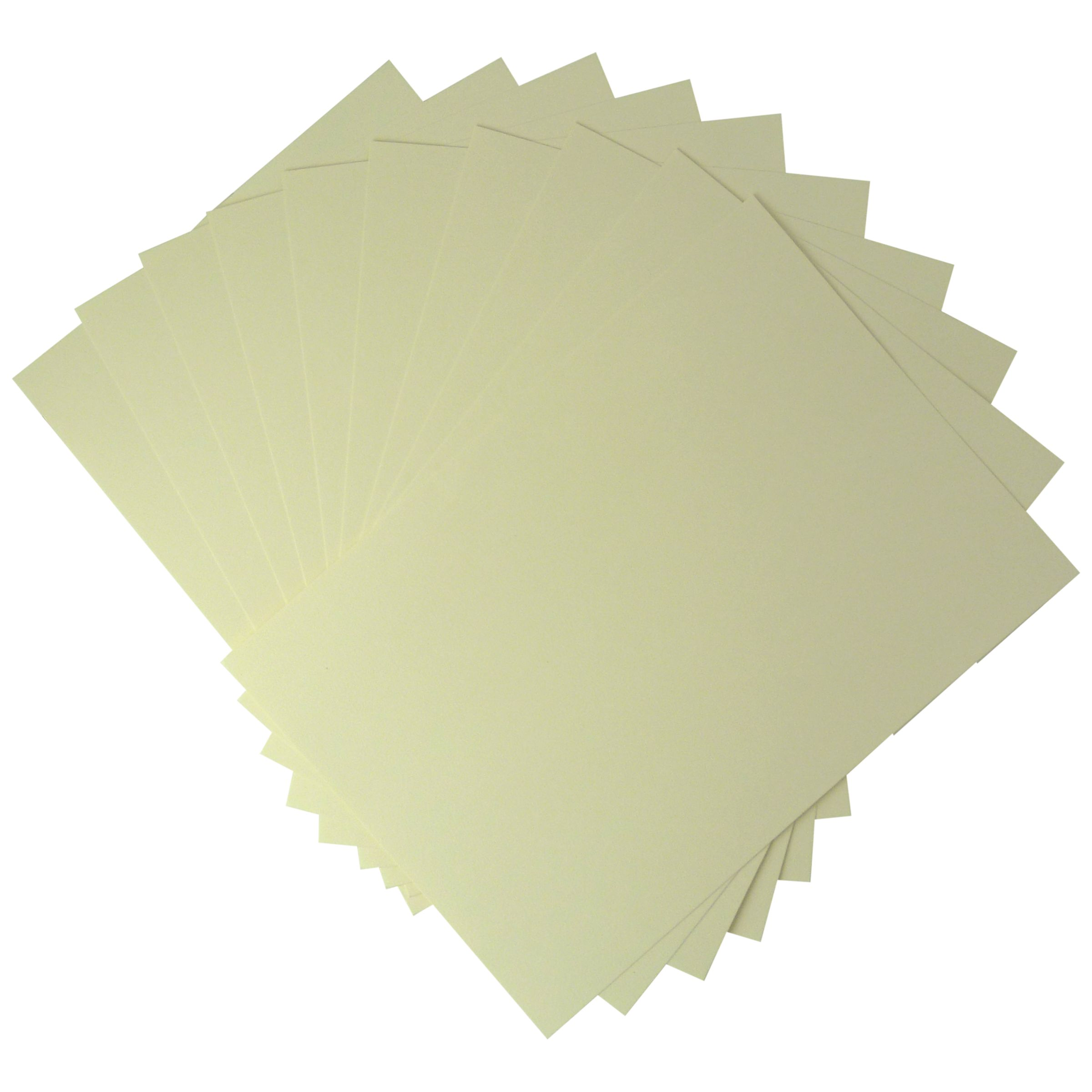 John Lewis Plain Card, A4, Pack of 10, Cream