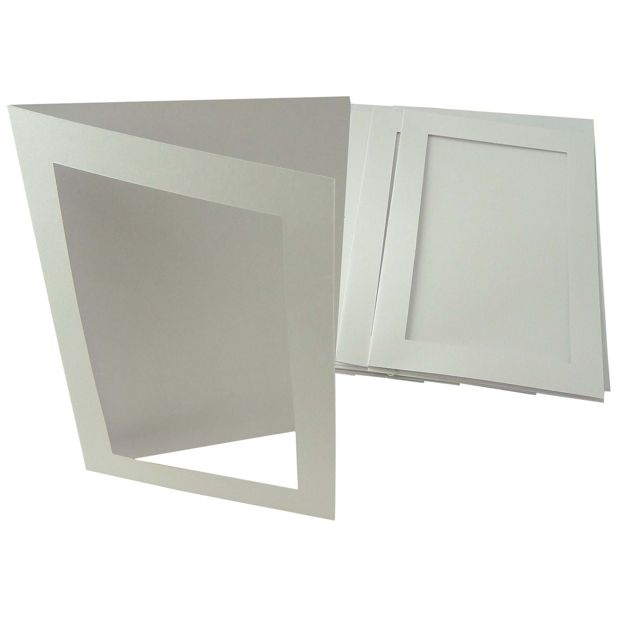 John Lewis A5 Rectangular Aperture Cards, Pack of 10, White