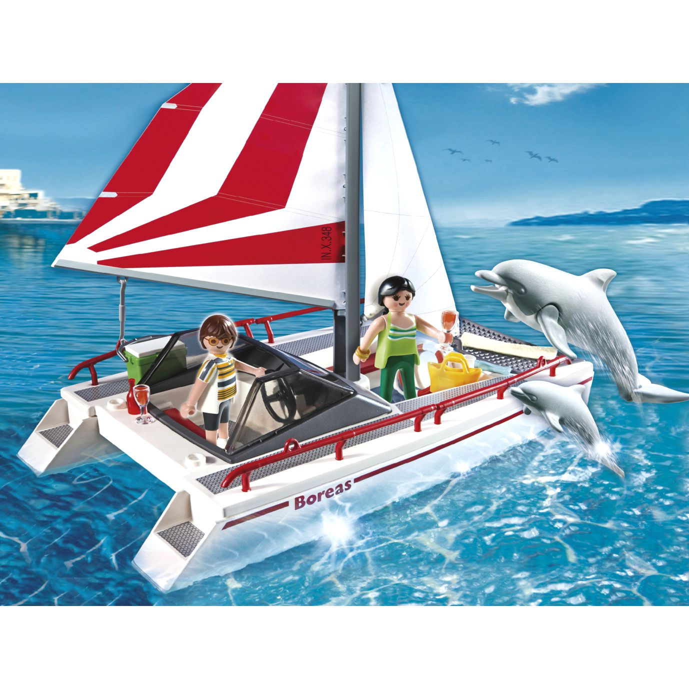 Playmobil Catamaran with Dolphin
