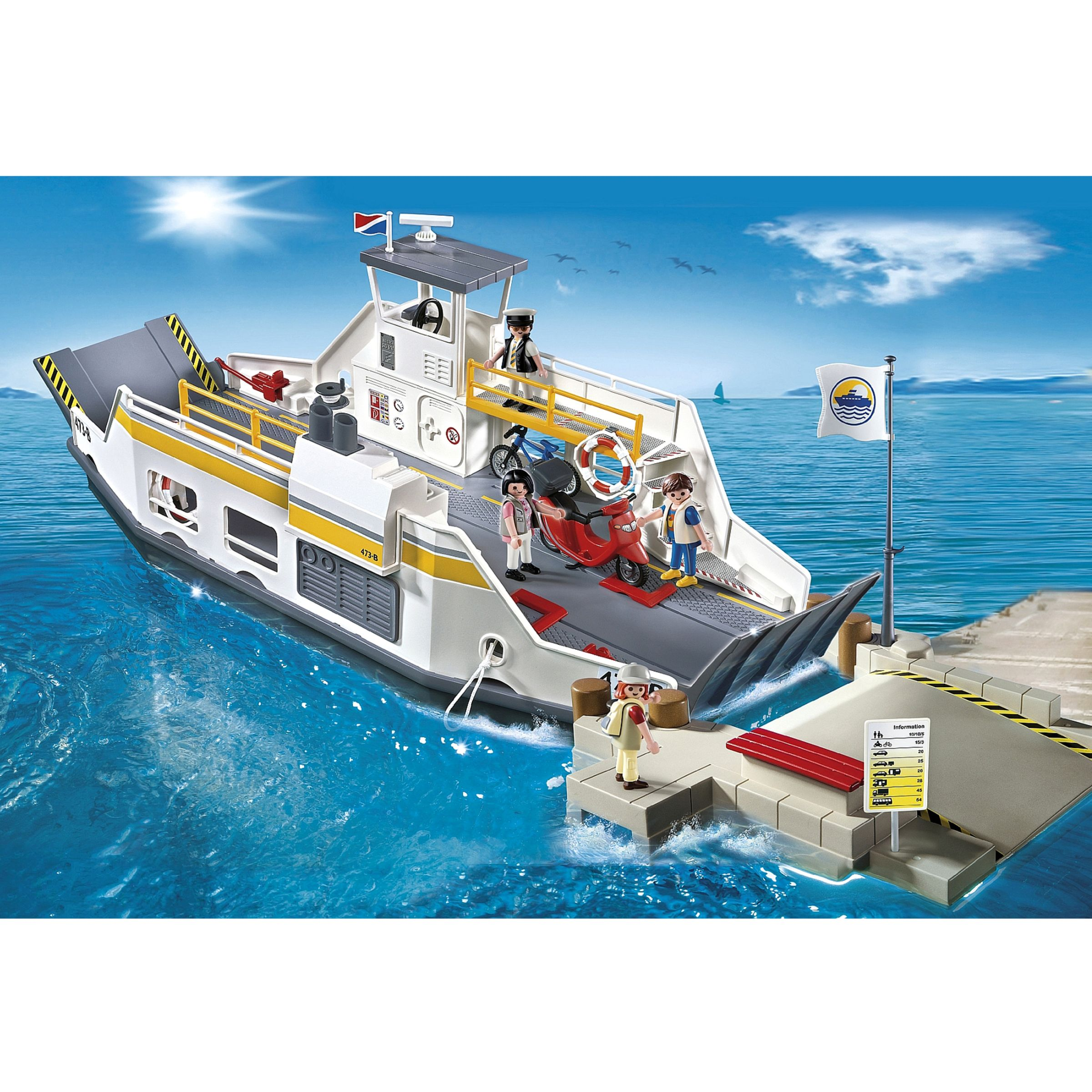 Playmobil Harbour Car Ferry with Pier
