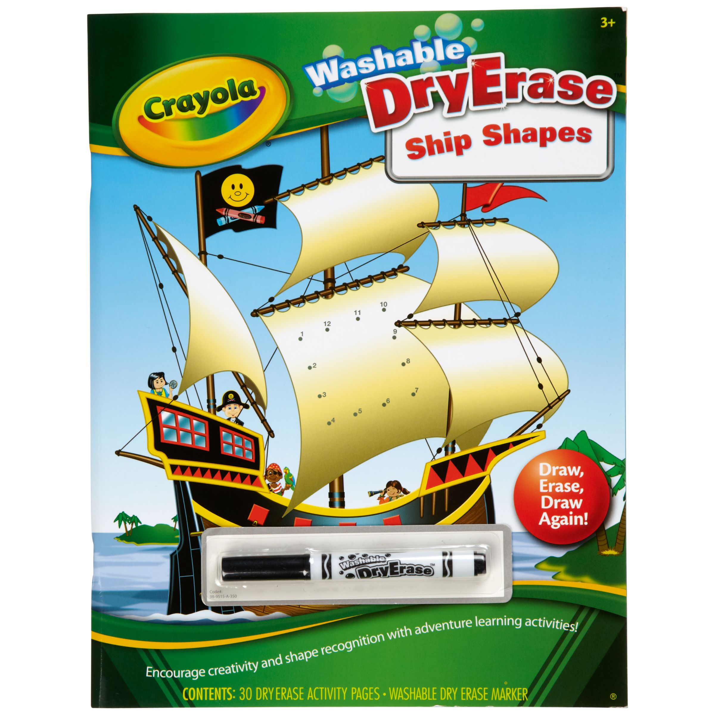 Crayola Washable DryErase Ship Shapes Activity Book