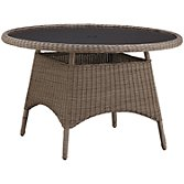 Kettler Round 4 Seater Outdoor Dining Table, Rattan, width 125cm