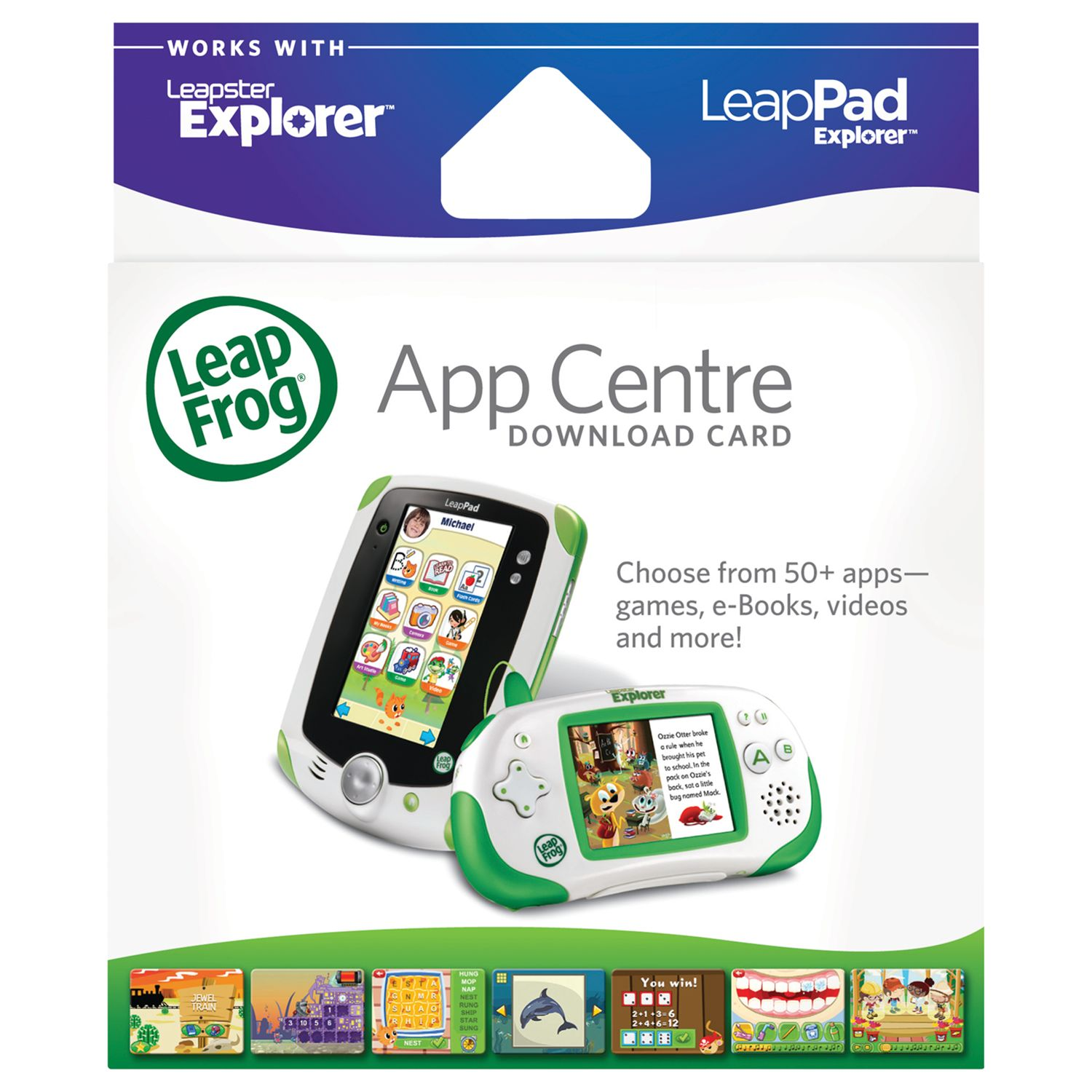 LeapFrog LeapPad and Leapster Explorer App Centre Download Card