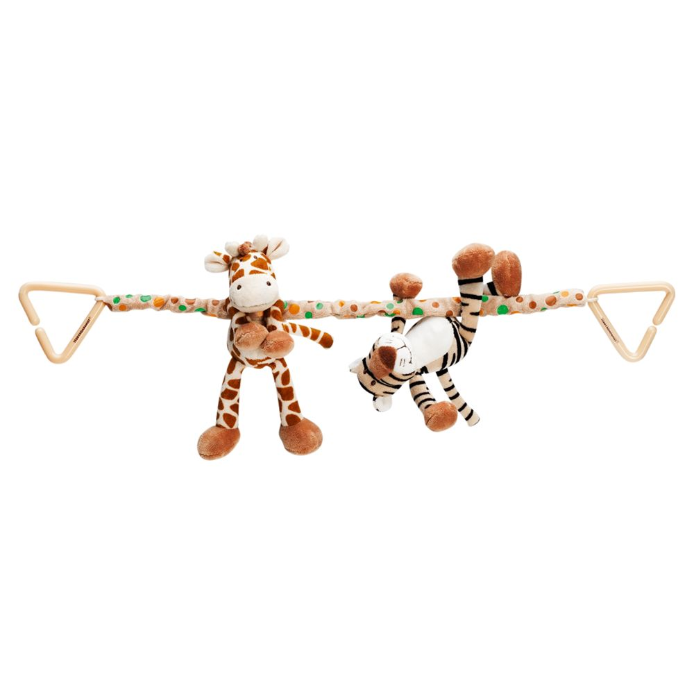 Teddykompaniet Giraffe and Tiger Pram Toy
