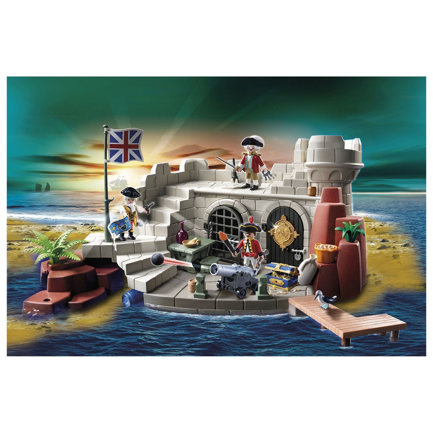 Playmobil Pirates Soldiers' Fort with Dungeon