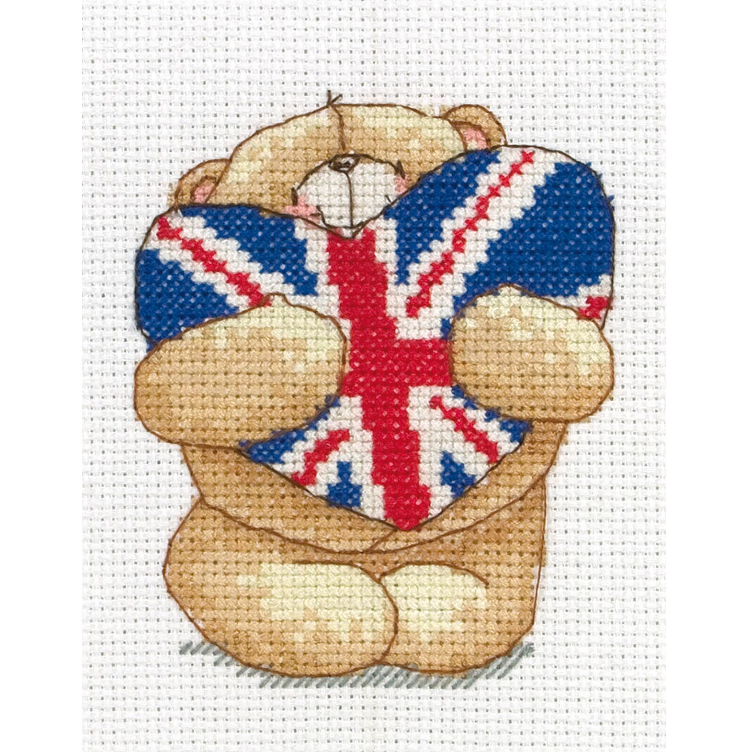 Anchor Forever Friends Union Jack Mini Cross Stitch Kit