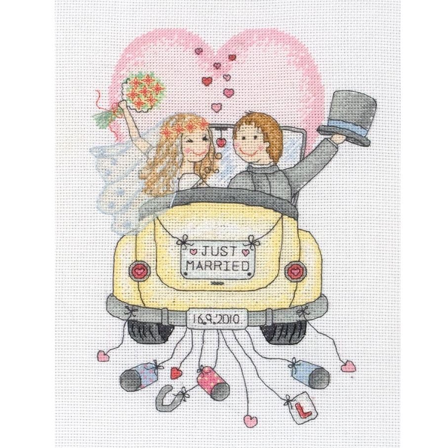 Anchor Just Married Sampler Cross Stitch Kit