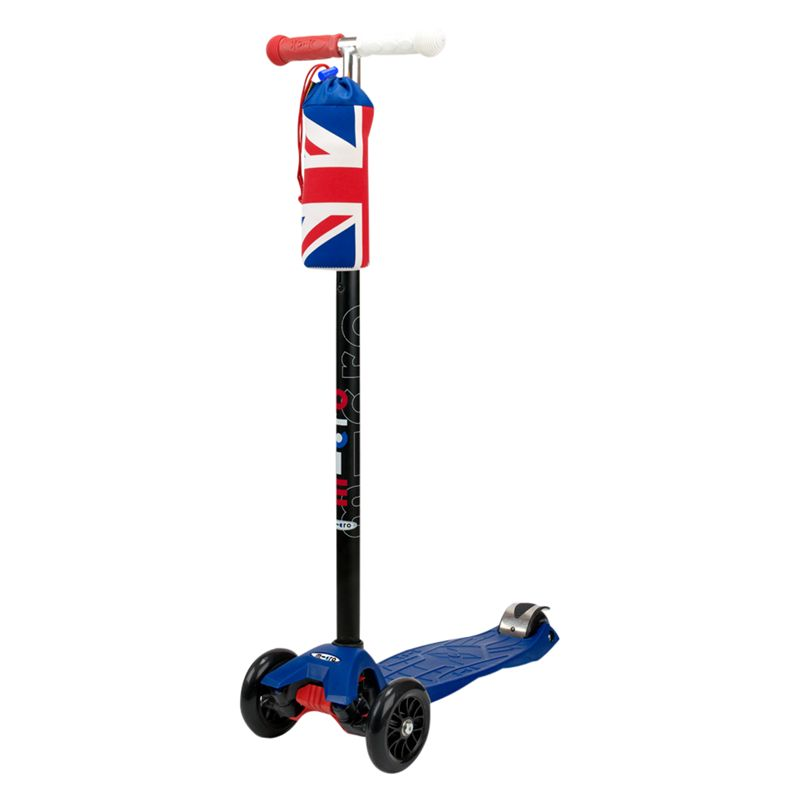Limited Edition Union Jack Maxi Micro Scooter and Cooler, Blue