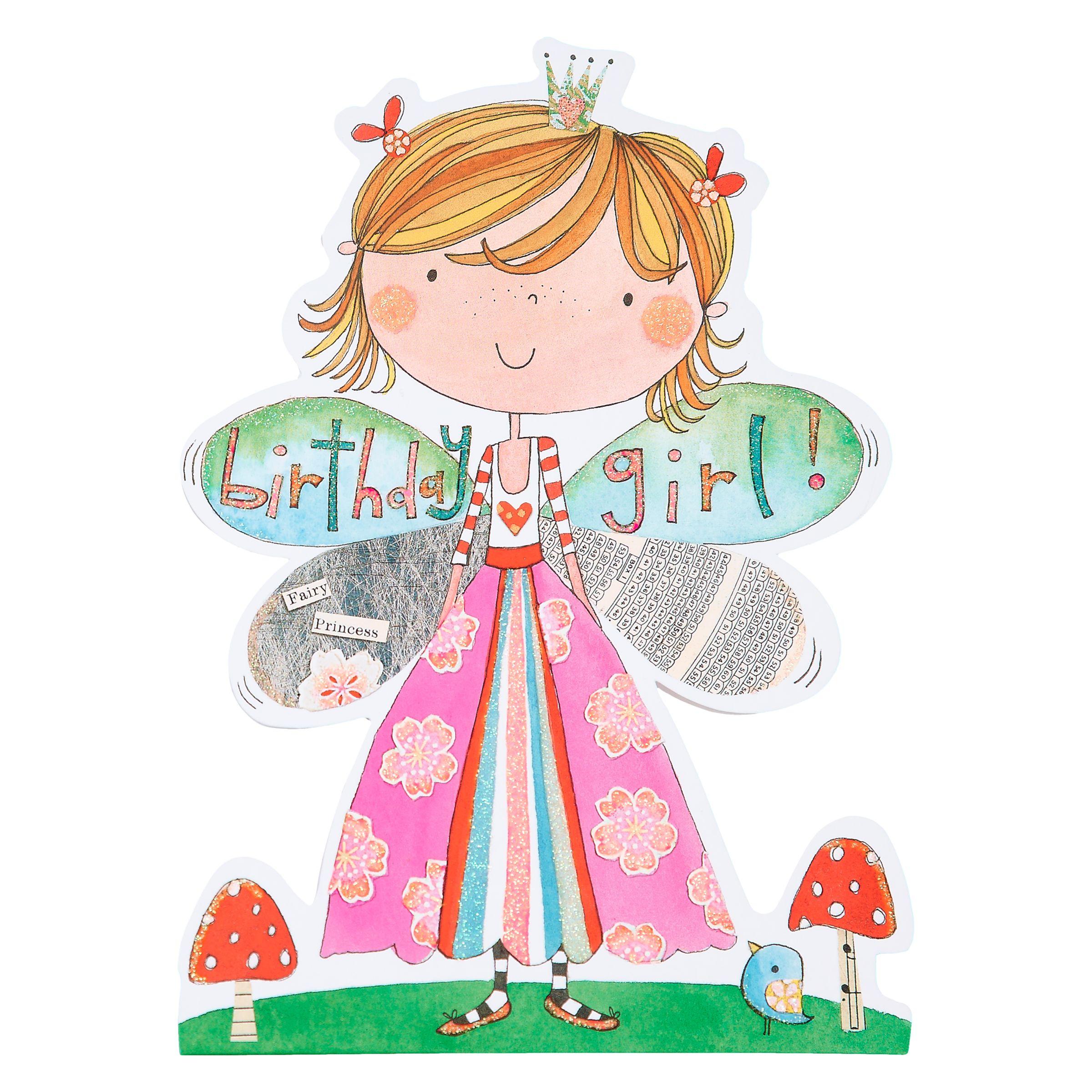 Rachel Ellen Birthday Girl Fairy Princess Card