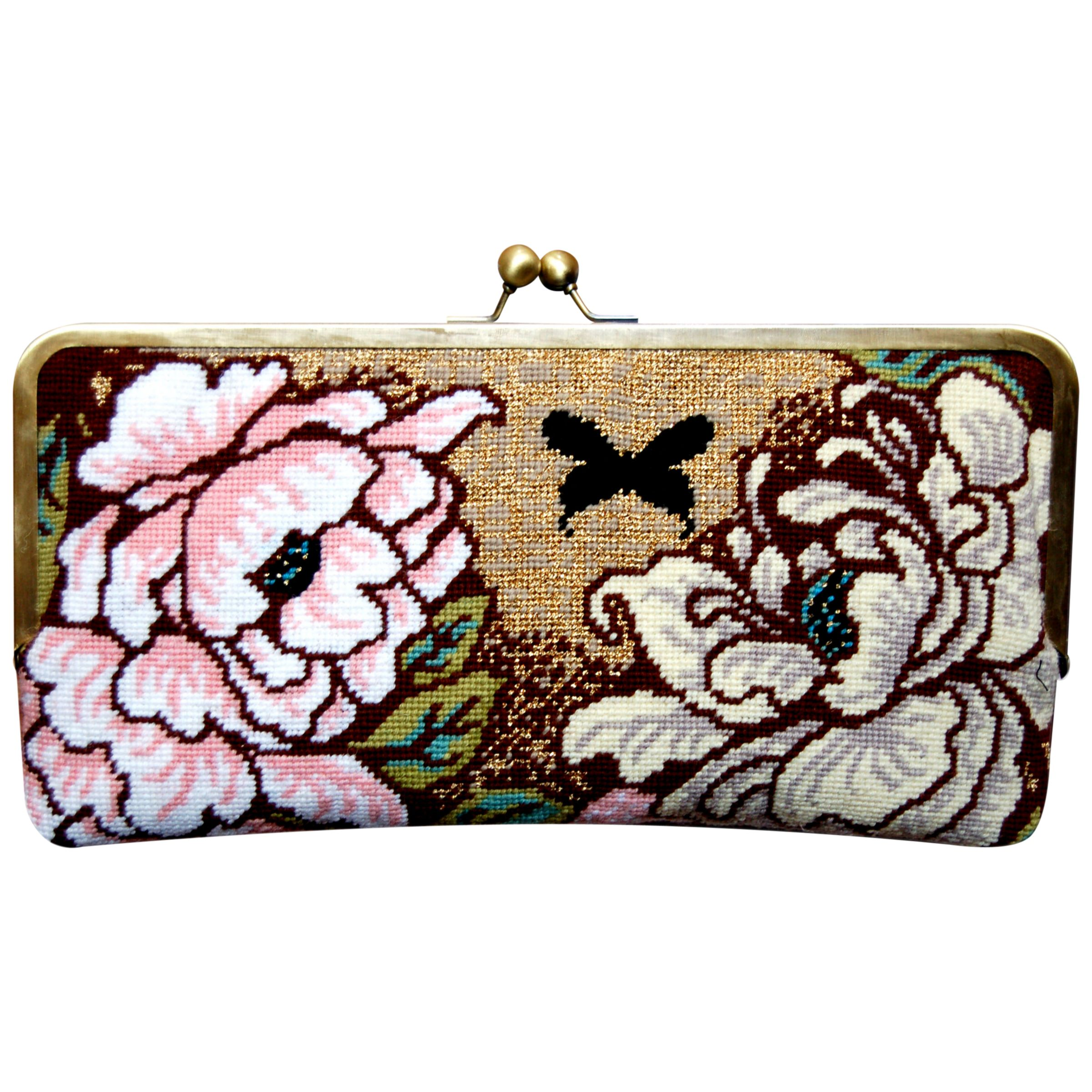 Felicity Hall English Garden Needlepoint Clutch Bag Kit