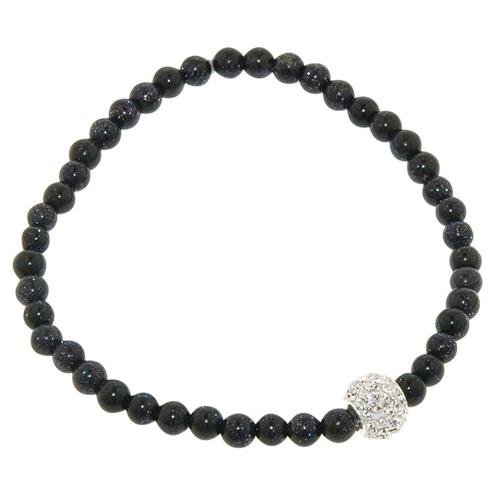 JouJou Sandstone and Pave Ball Bracelet