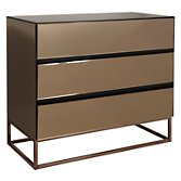 John Lewis Halkin Chest of Drawers, Bronze, width 100cm