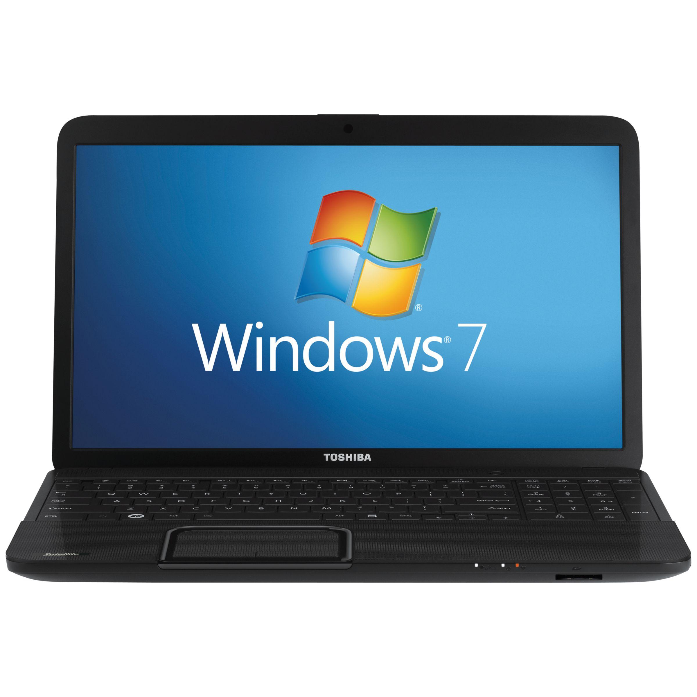 "Toshiba Satellite C850-132 Laptop, Intel Pentium B950, 2.1ghz, 4gb Ram, 500gb, 15.6"", Black"
