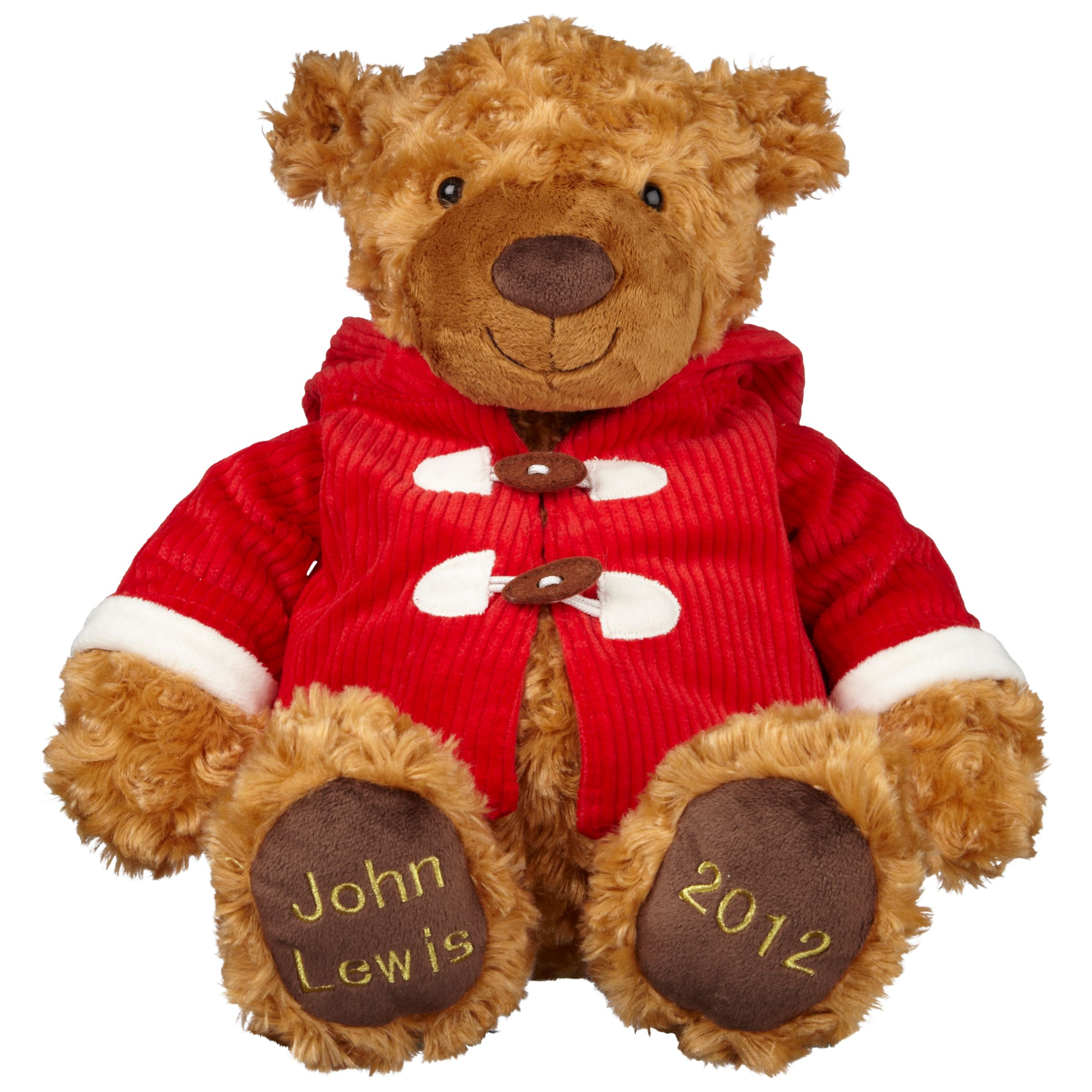 John Lewis Lewis Christmas Bear Large, Brown/Red